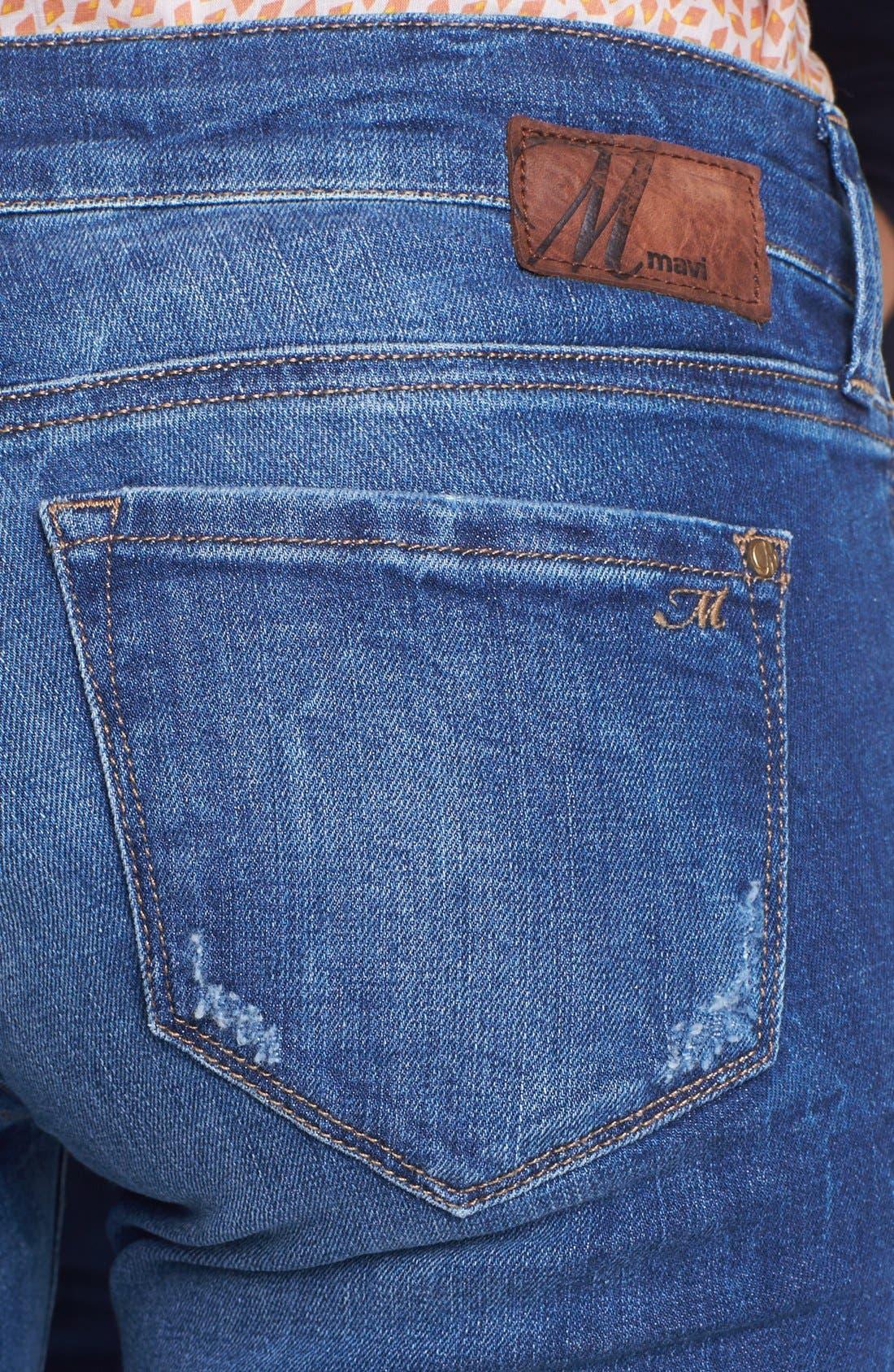 Alternate Image 2  - Mavi Jeans 'Serena' Super Skinny Jeans (Indigo Vintage)