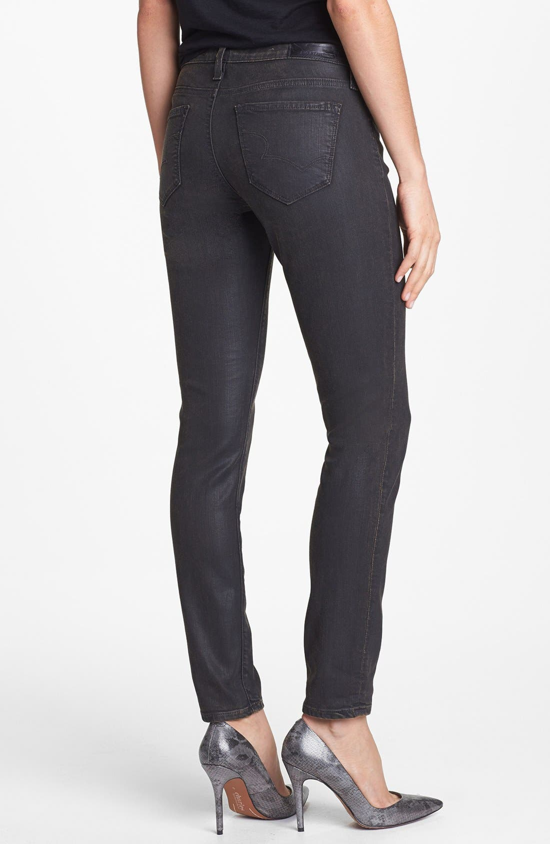 Alternate Image 2  - Big Star 'Alex' Stretch Skinny Jeans (Bronson) (Petite)