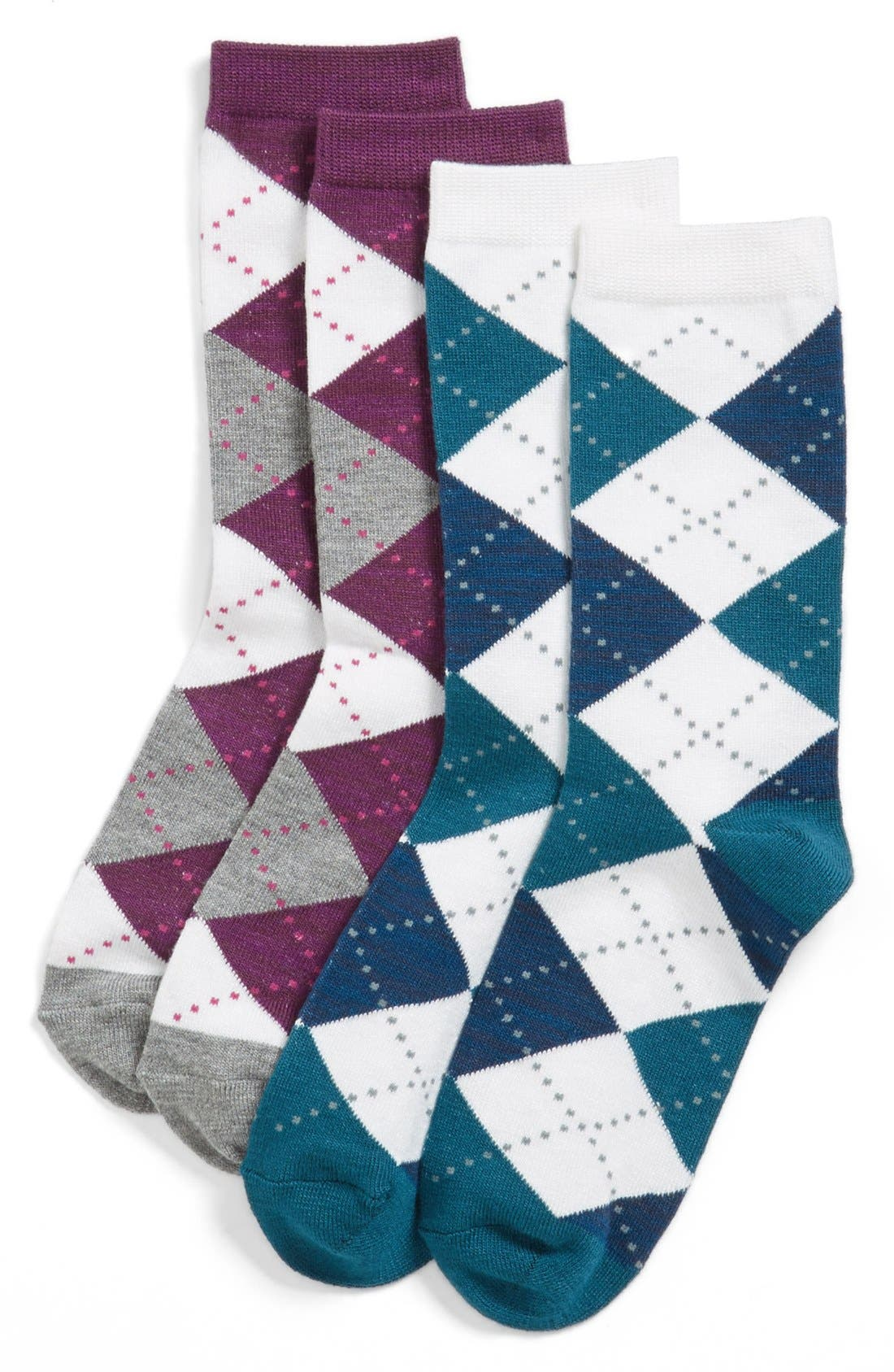 Alternate Image 2  - Nordstrom 'Soft Touch' Argyle Crew Socks (3 for $18)