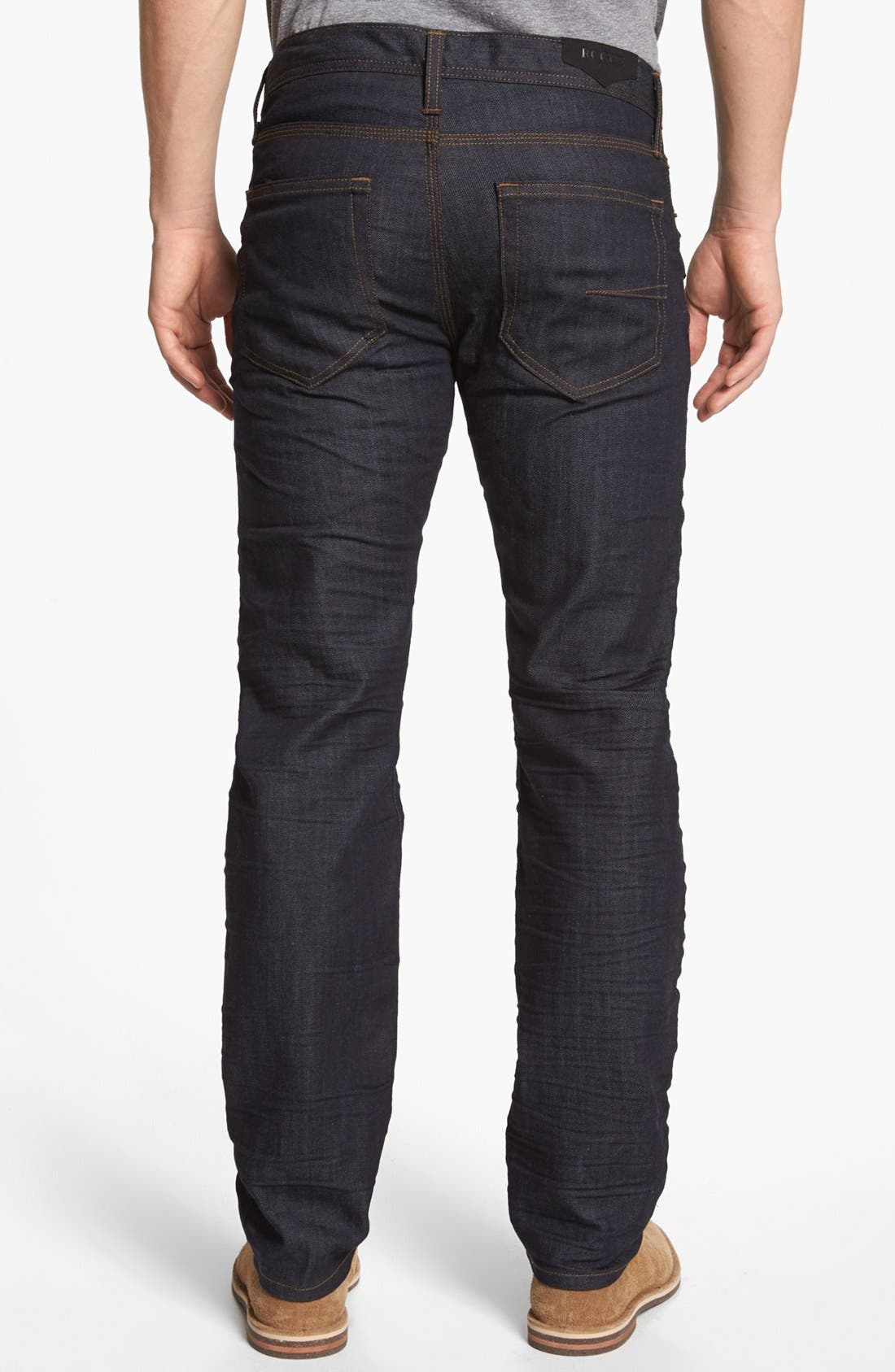 Alternate Image 2  - Rogue 'Ruffian' Slim Straight Leg Jeans (Dark Blue)