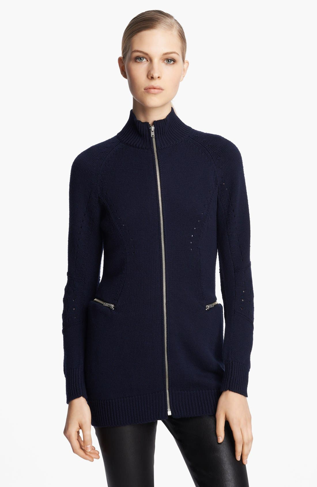 Alternate Image 1 Selected - Junya Watanabe Mock Neck Wool Jersey Sweater
