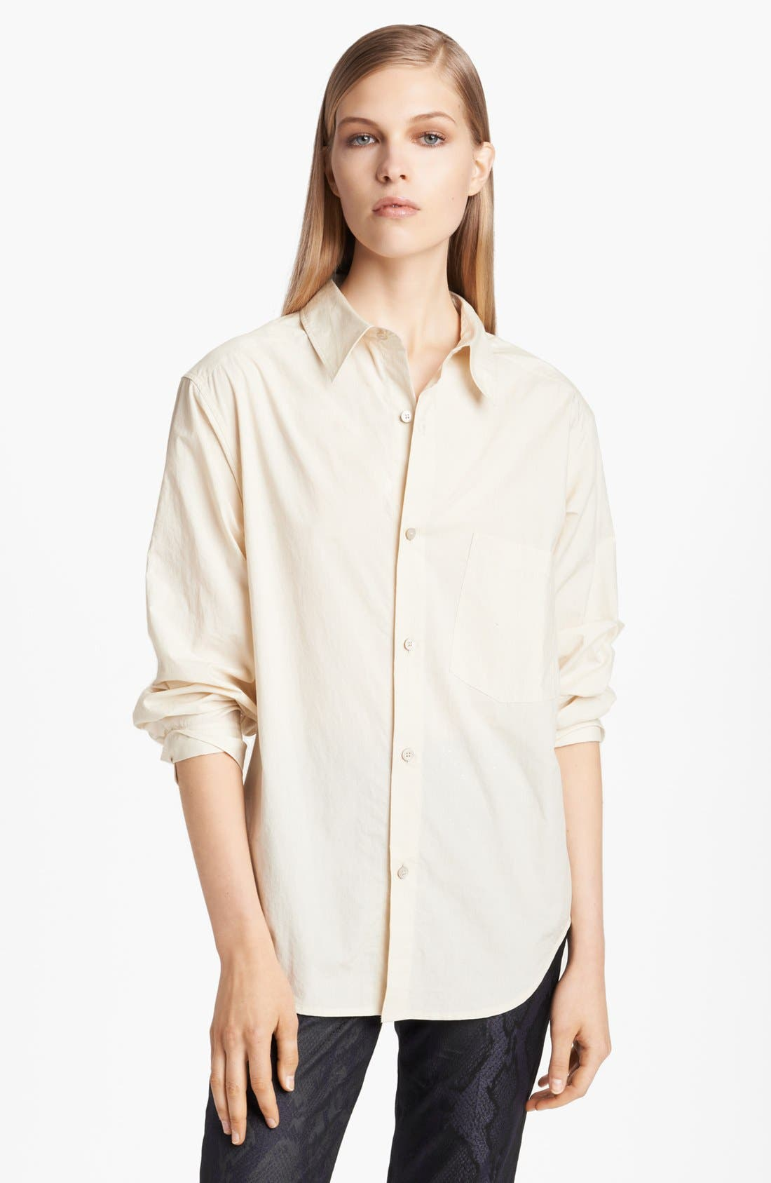 Alternate Image 1 Selected - Donna Karan Casual Luxe Paper Cotton Shirt
