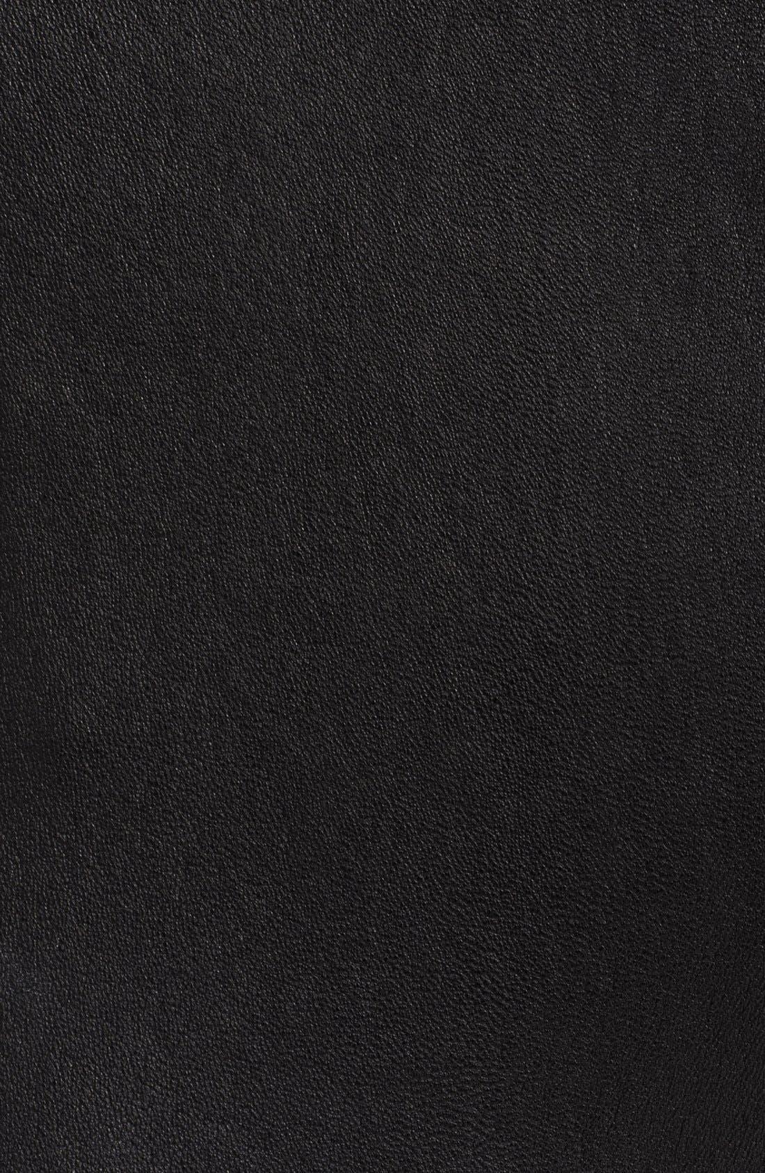 Alternate Image 3  - Donna Karan Collection Skinny Leather & Jersey Pants