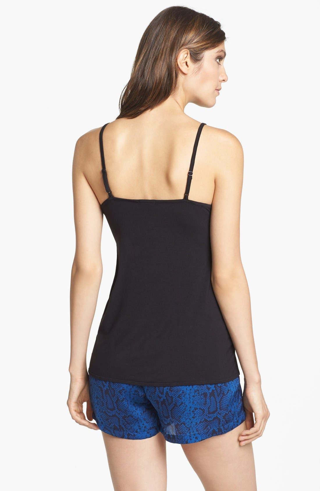 Alternate Image 4  - PJ Luxe Lace Trim Camisole