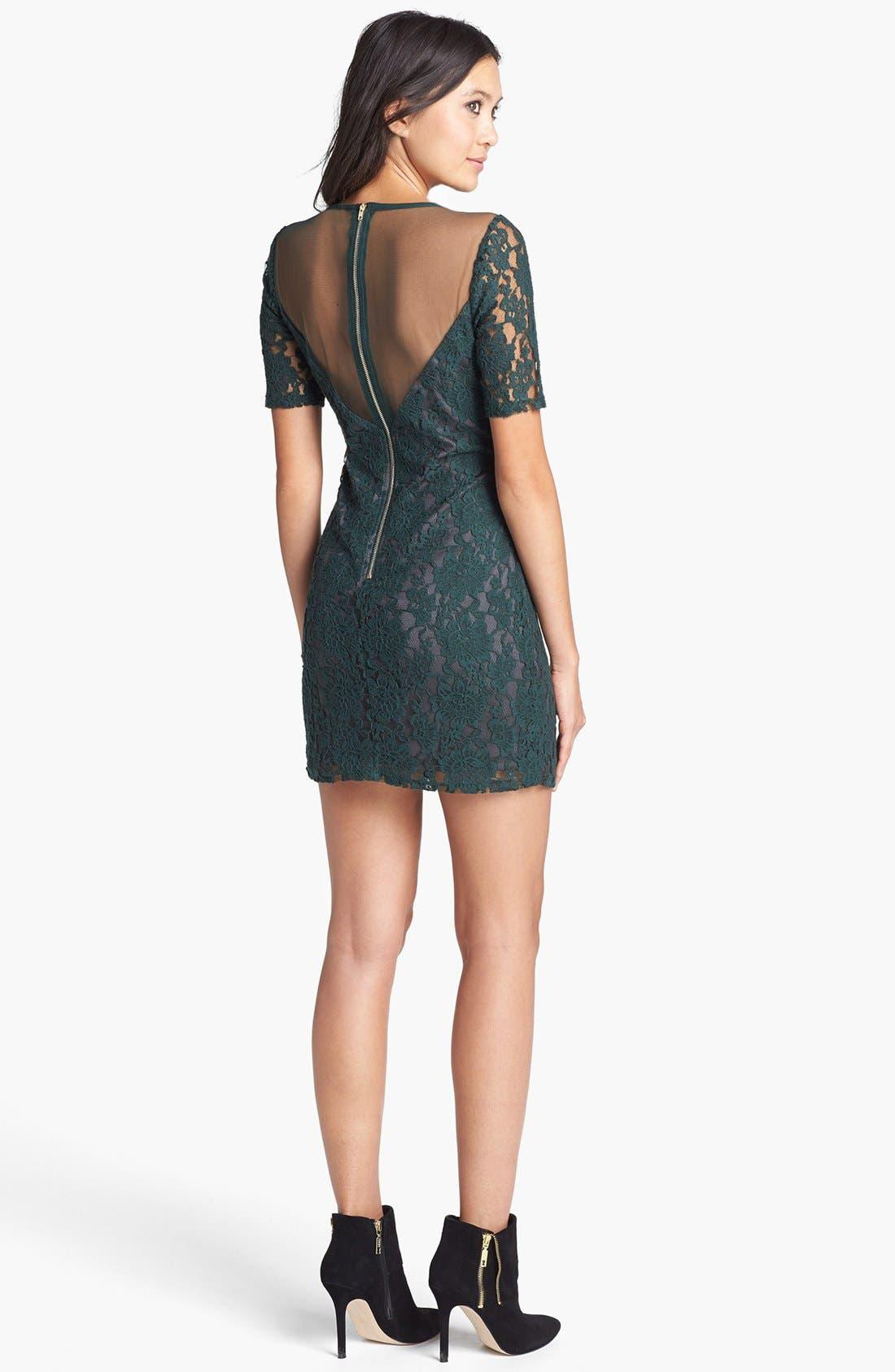 Alternate Image 2  - ASTR Mesh Inset Lace Dress