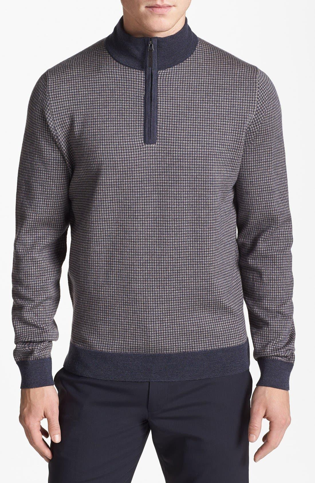 Alternate Image 1 Selected - John W. Nordstrom® Merino Wool Quarter Zip Pullover