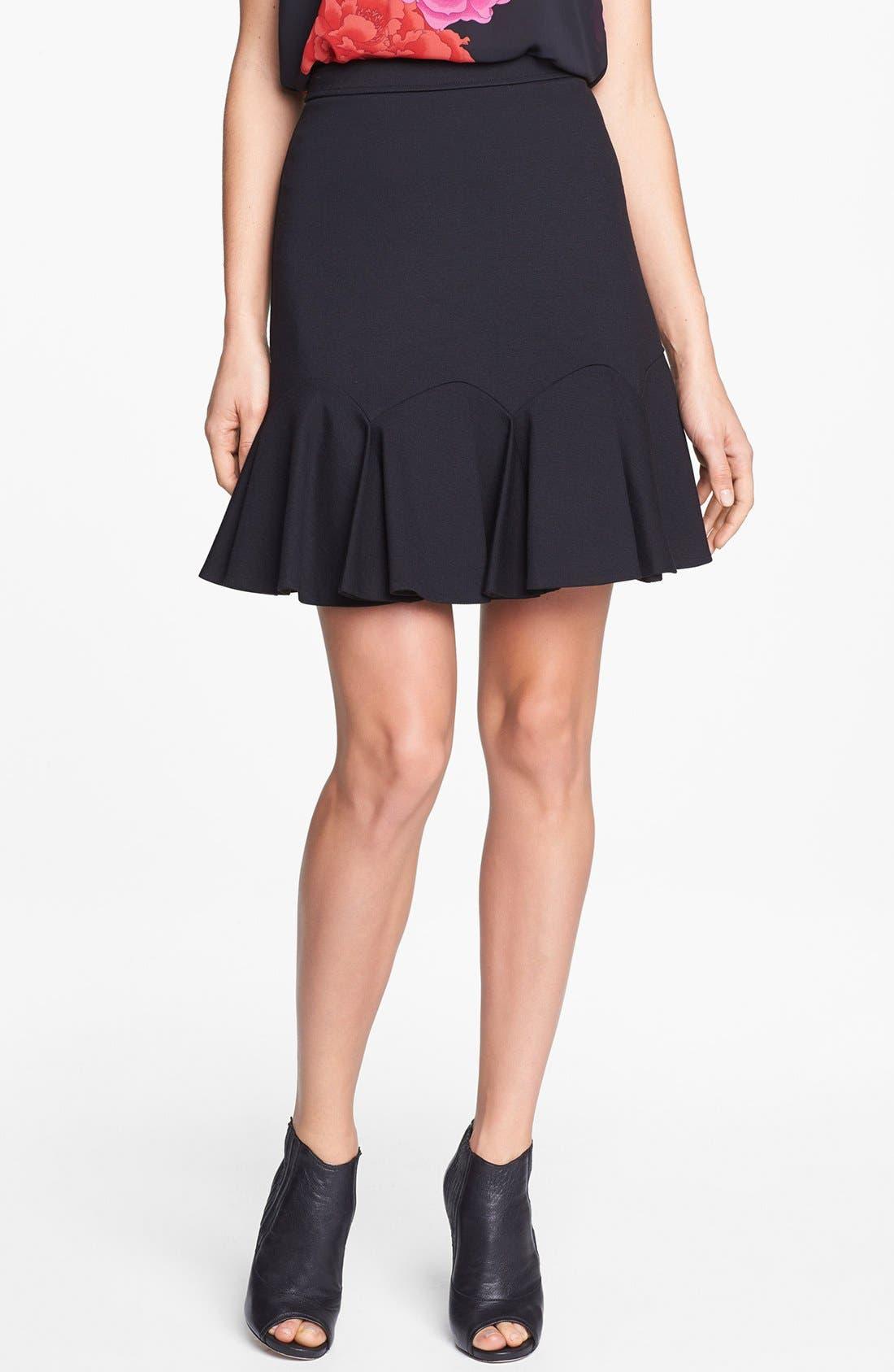 Main Image - Vince Camuto Fluted Miniskirt