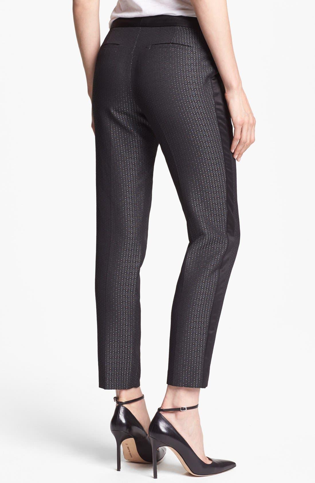 Alternate Image 2  - Halogen® 'Quinn' Tuxedo Jacquard Skinny Ankle Pants (Petite)