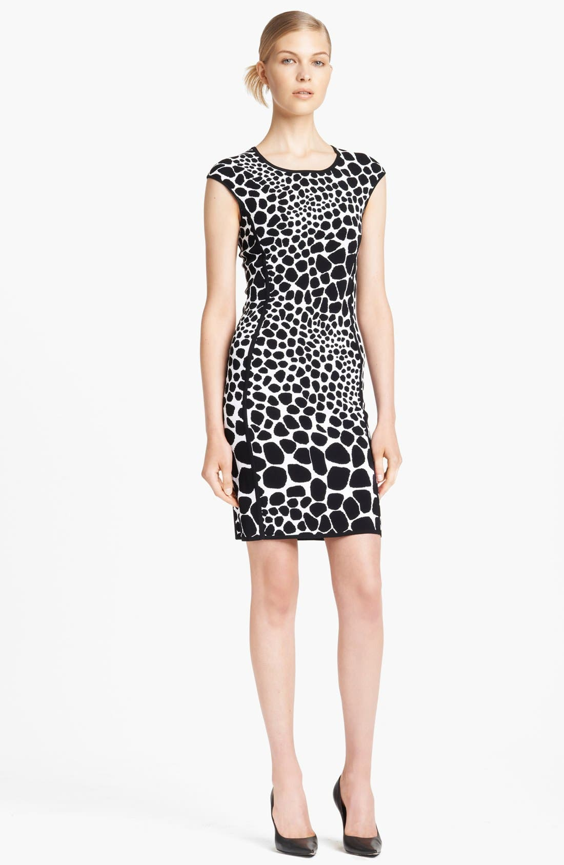 Alternate Image 1 Selected - Michael Kors Giraffe Pattern Knit Dress
