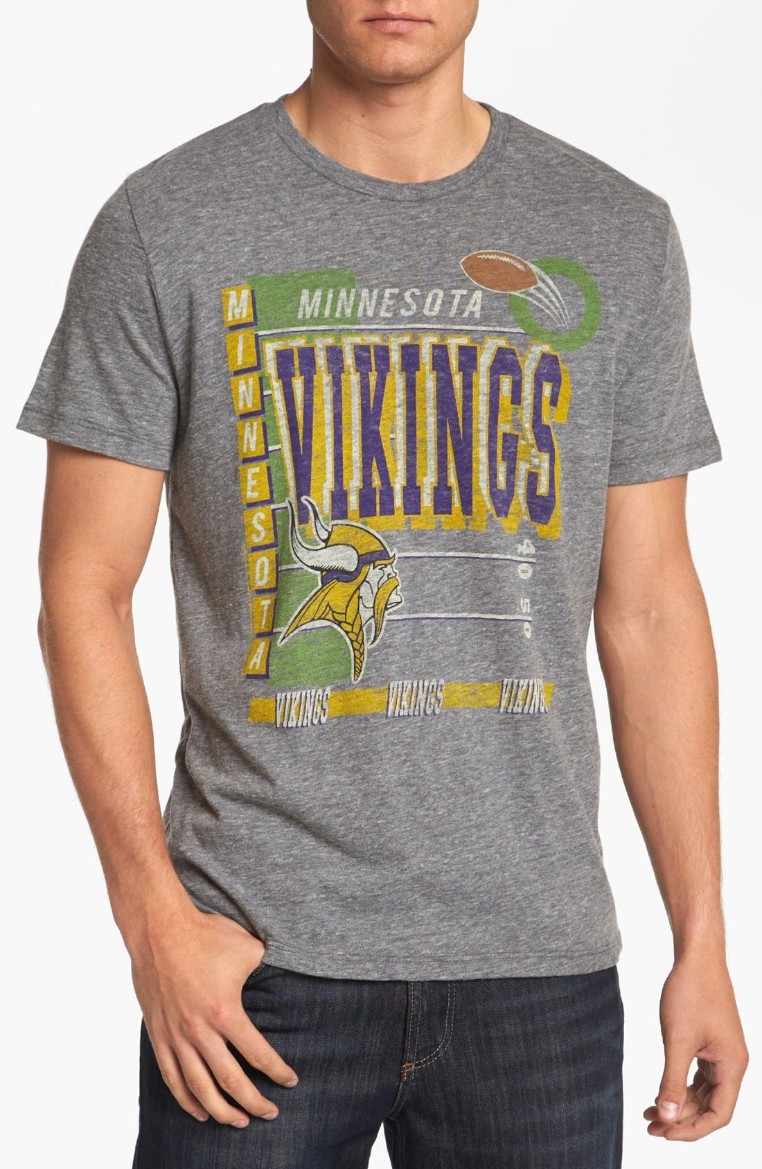 Alternate Image 1 Selected - Junk Food 'Touchdown - Minnesota Vikings' T-Shirt