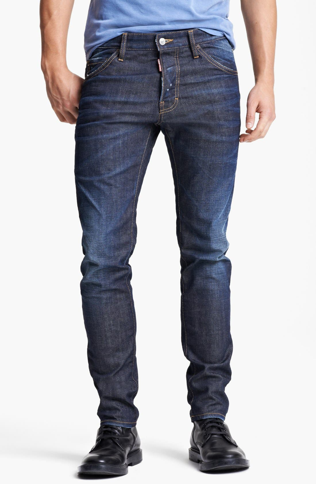 Alternate Image 1 Selected - Dsquared2 'Cool Guy' Skinny Fit Jeans (Blue)