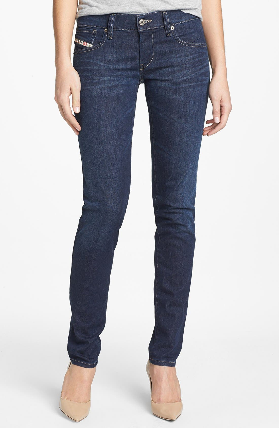 Alternate Image 1 Selected - DIESEL® 'Getlegg' Low Rise Slim Jeans