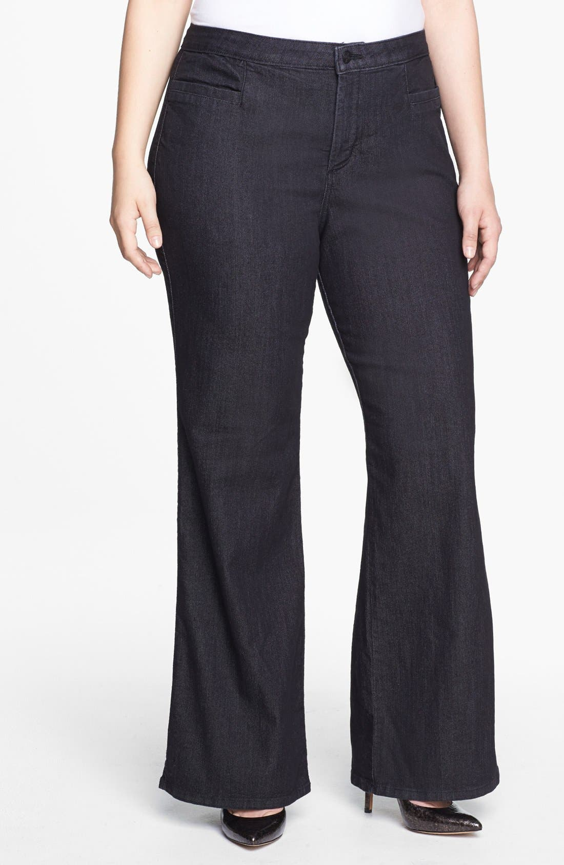 Alternate Image 1 Selected - NYDJ 'Filipa' Stretch Trouser Jeans (Dark Enzyme) (Plus Size)