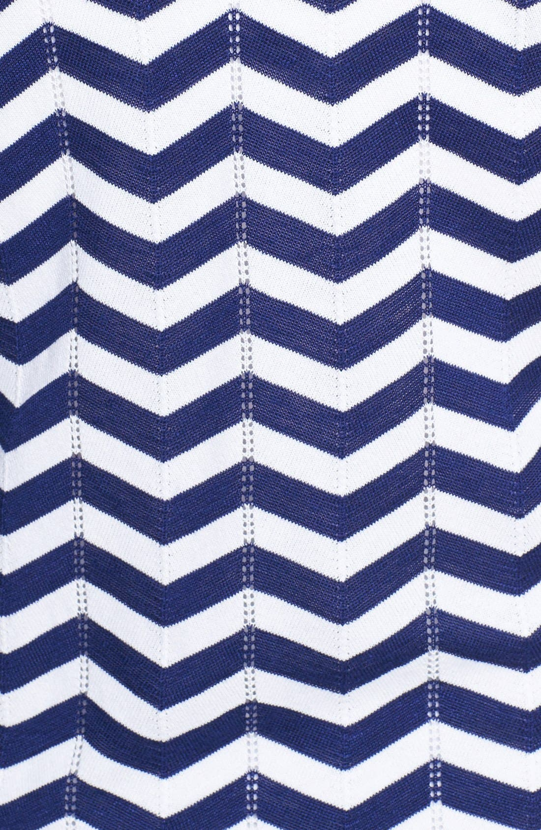 Alternate Image 3  - Foxcroft Chevron Stripe Pullover Sweater (Plus Size)