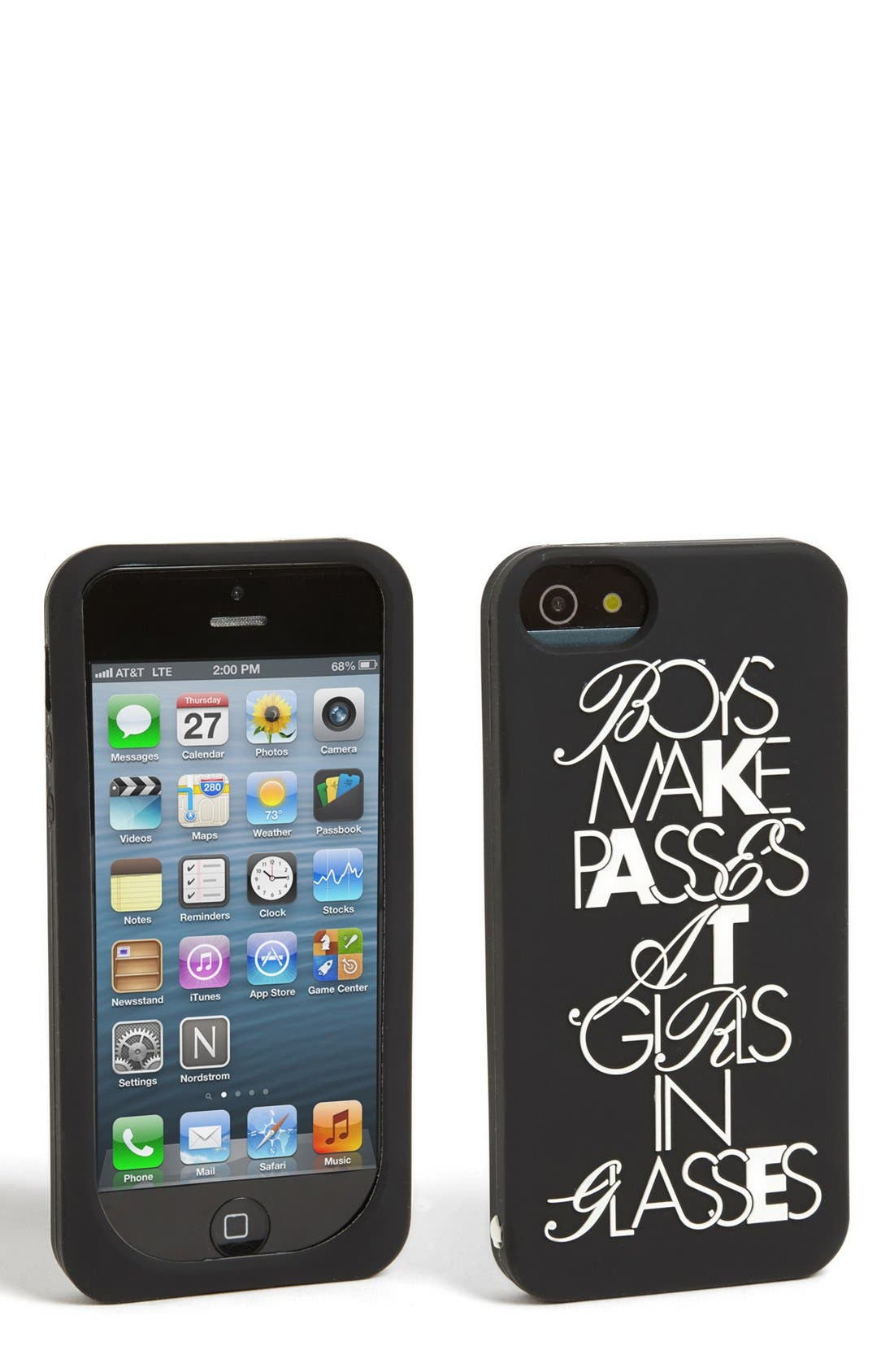 Alternate Image 1 Selected - kate spade new york 'boys make passes' iPhone 5 & 5s case