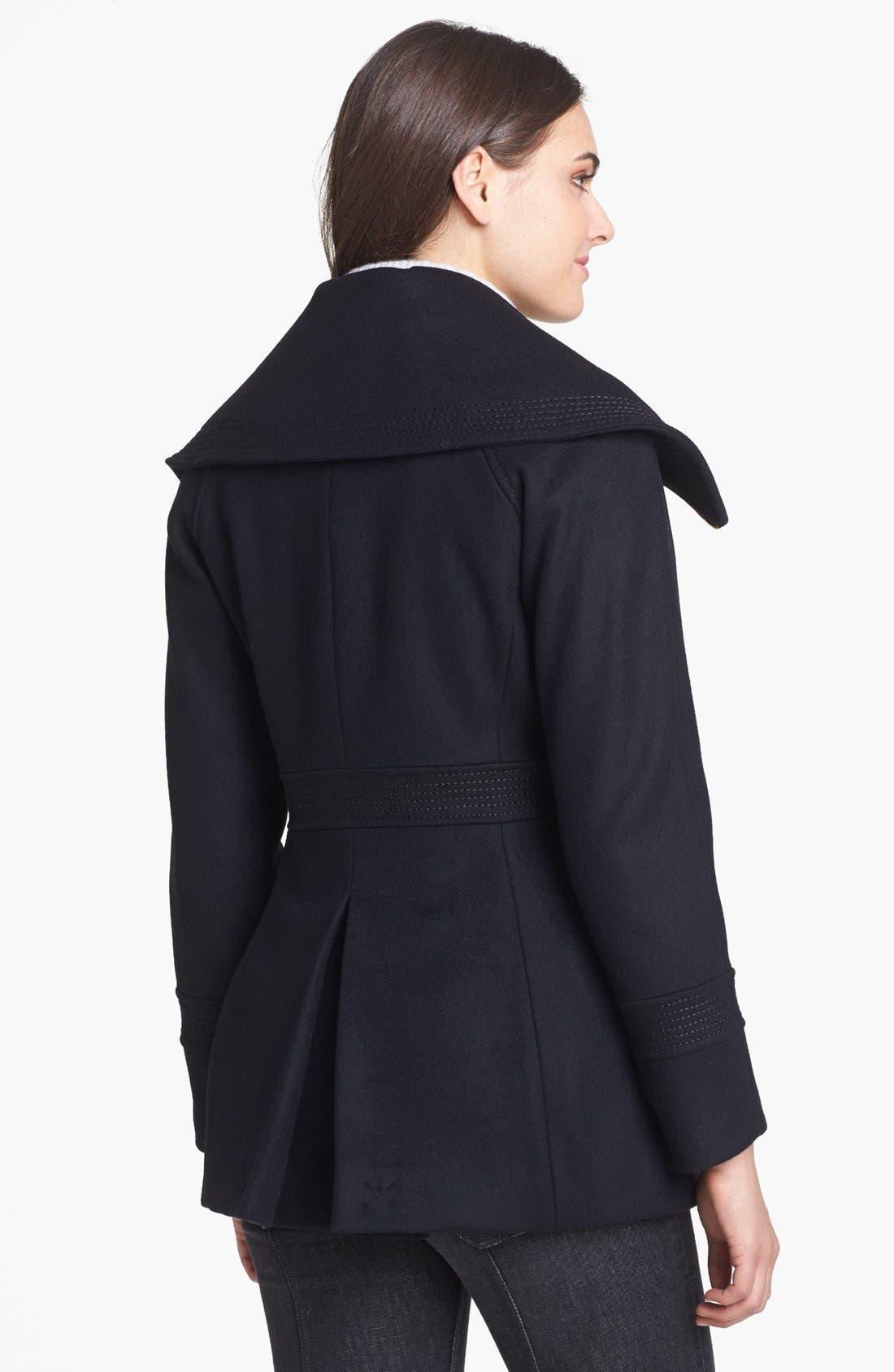 Alternate Image 2  - Trina Turk 'Stella' Oversized Collar Coat