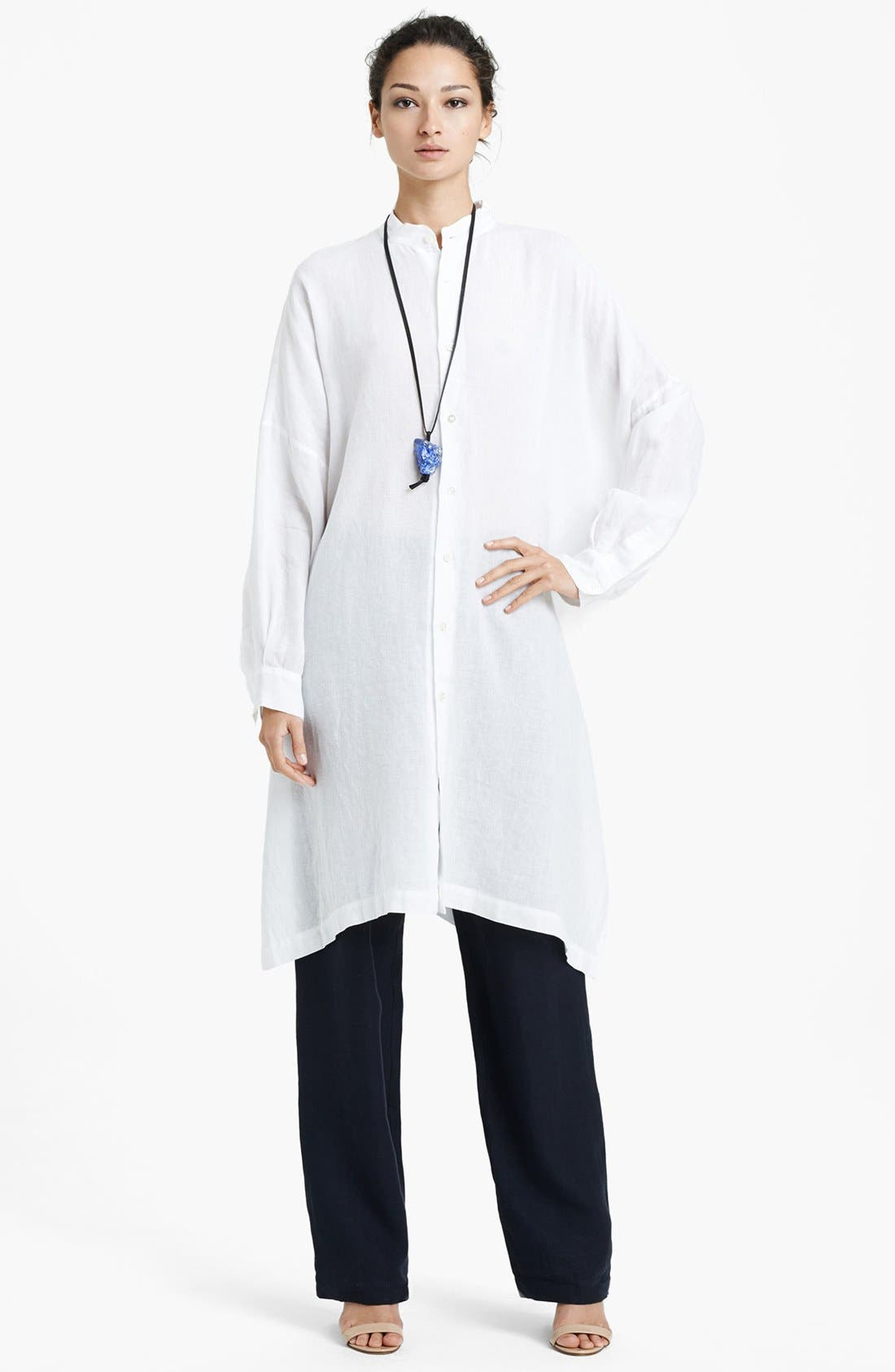 Alternate Image 1 Selected - eskandar Long Handkerchief Linen Tunic