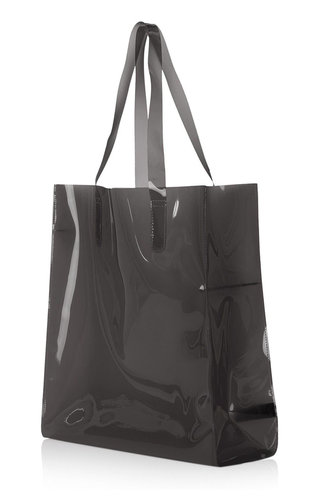 Alternate Image 3  - Topshop Sheer 'Ghost' Shopper