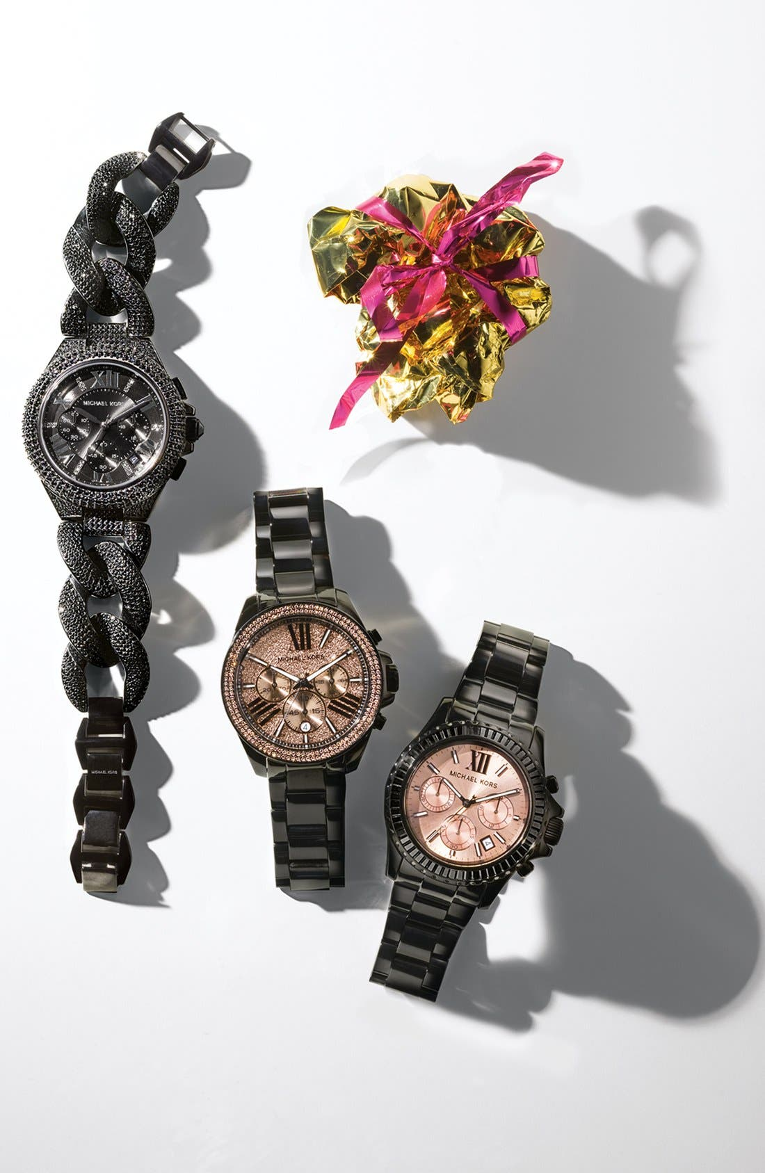 Alternate Image 4  - Michael Kors 'Camille' Crystal Encrusted Chain Link Watch, 44mm
