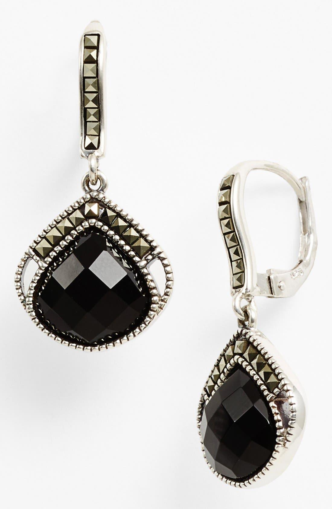 Main Image - Judith Jack 'Flamenco' Onyx Drop Earrings