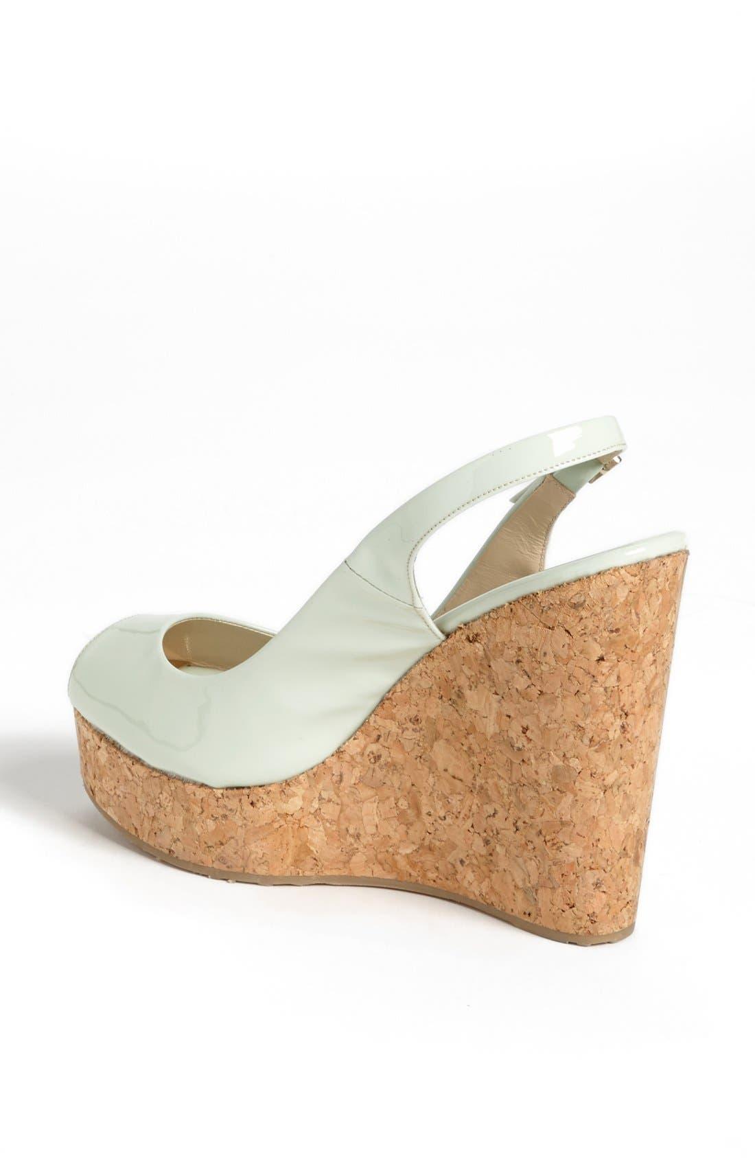 Alternate Image 2  - Jimmy Choo 'Prova' Cork Slingback Wedge Sandal