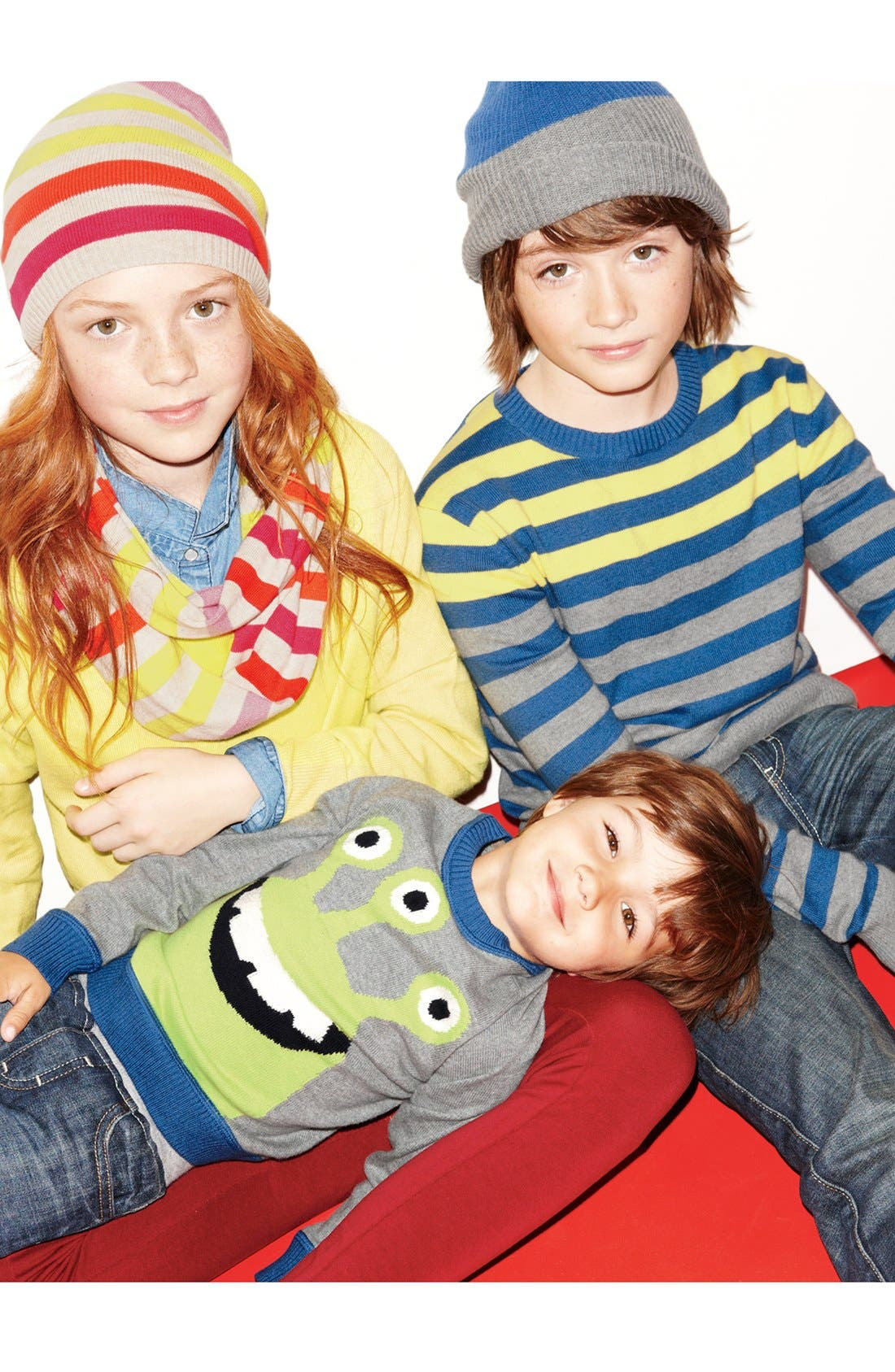 Alternate Image 1 Selected - Tucker + Tate Sweater, Western Top & Jeggings (Little Girls & Big Girls)