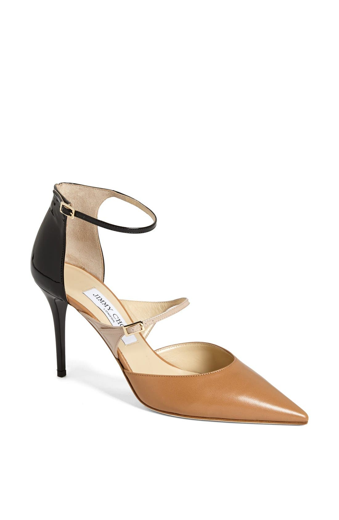 Alternate Image 1 Selected - Jimmy Choo 'Twist' Ankle Strap Pump