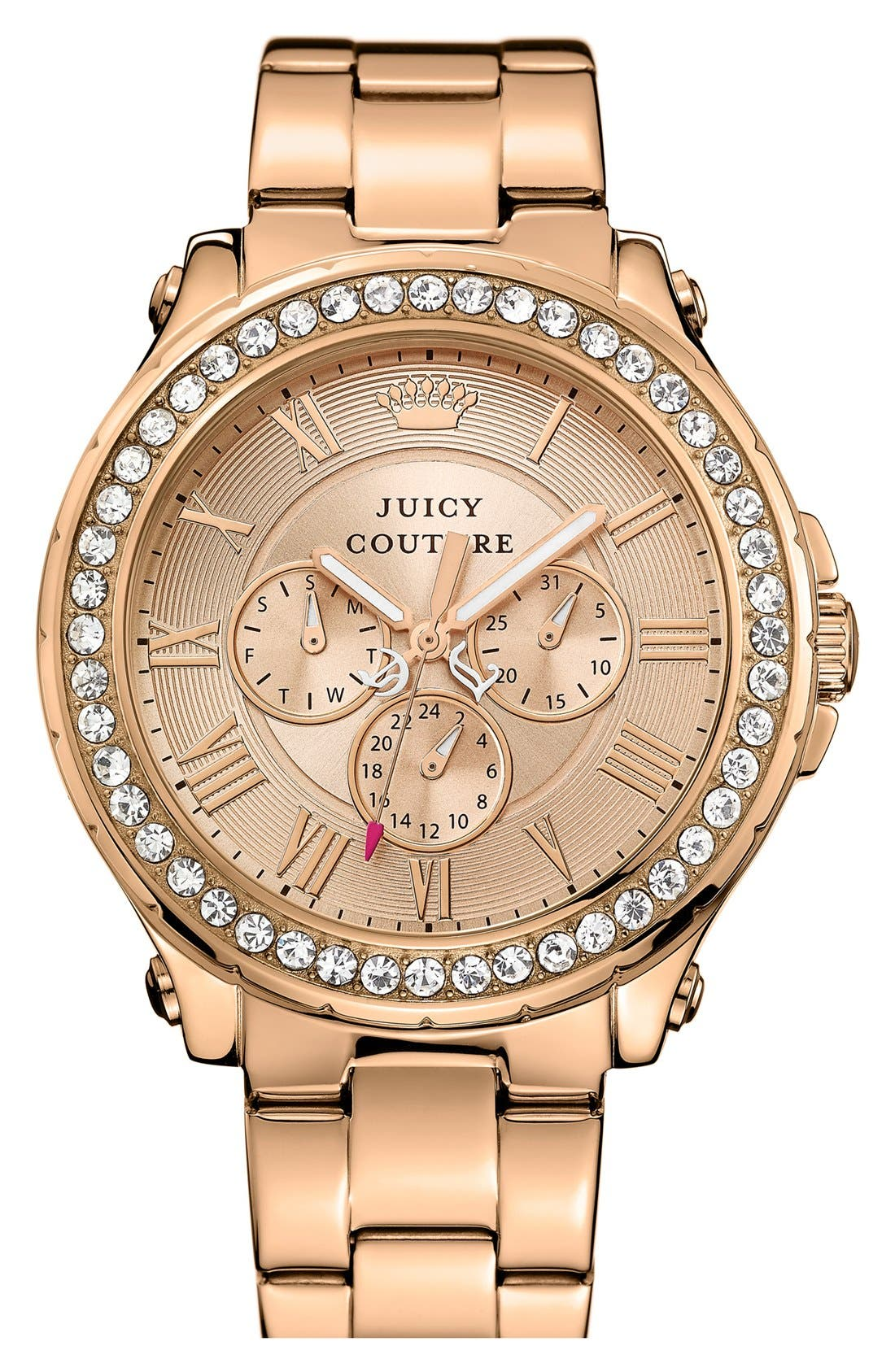 Main Image - Juicy Couture 'Pedigree' Multifunction Bracelet Watch, 42mm