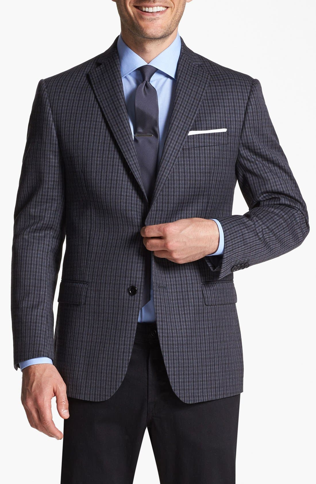 Main Image - Michael Kors Trim Fit Plaid Sportcoat