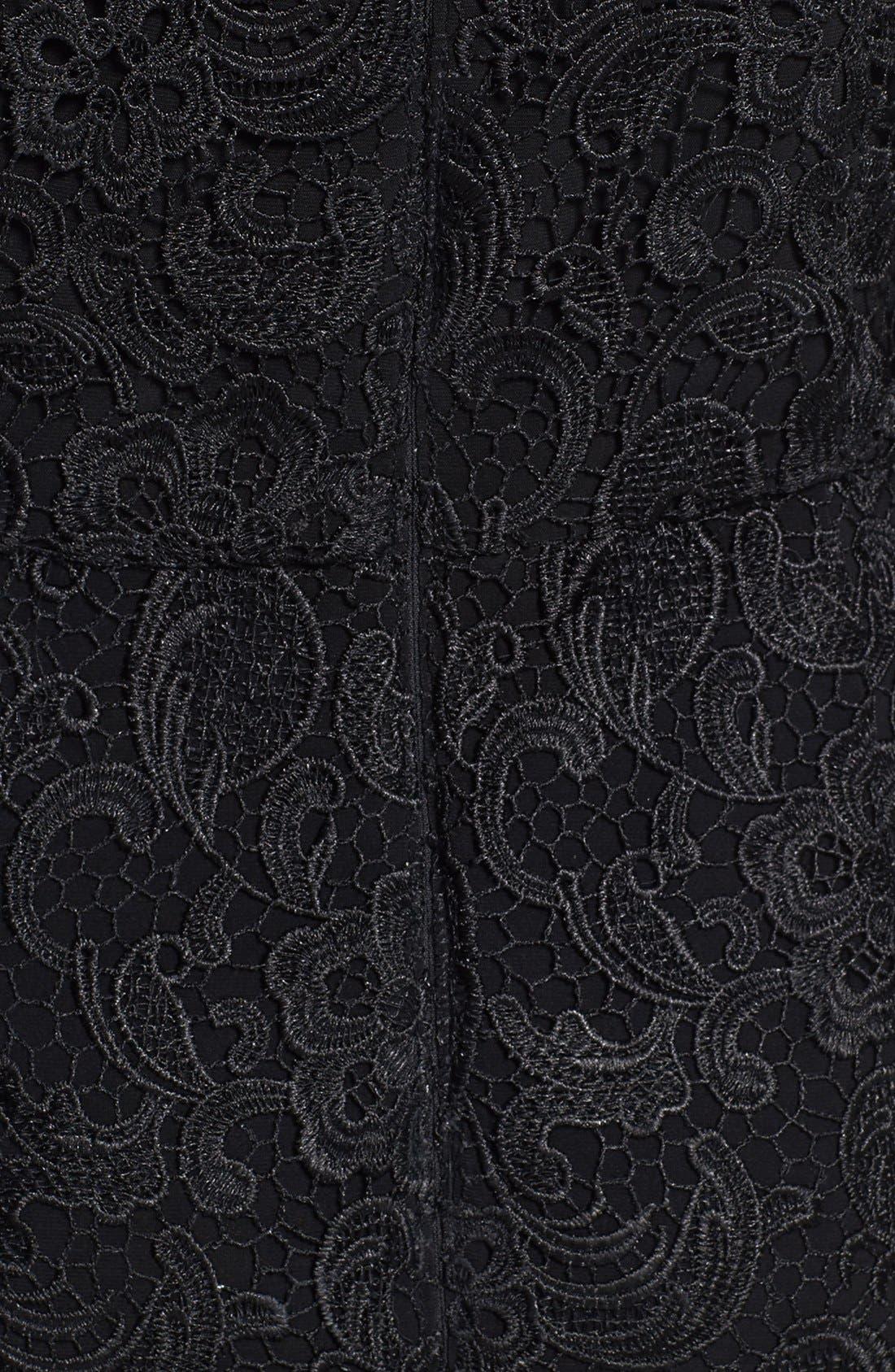 Alternate Image 4  - Patra Illusion Yoke Lace Sheath Dress