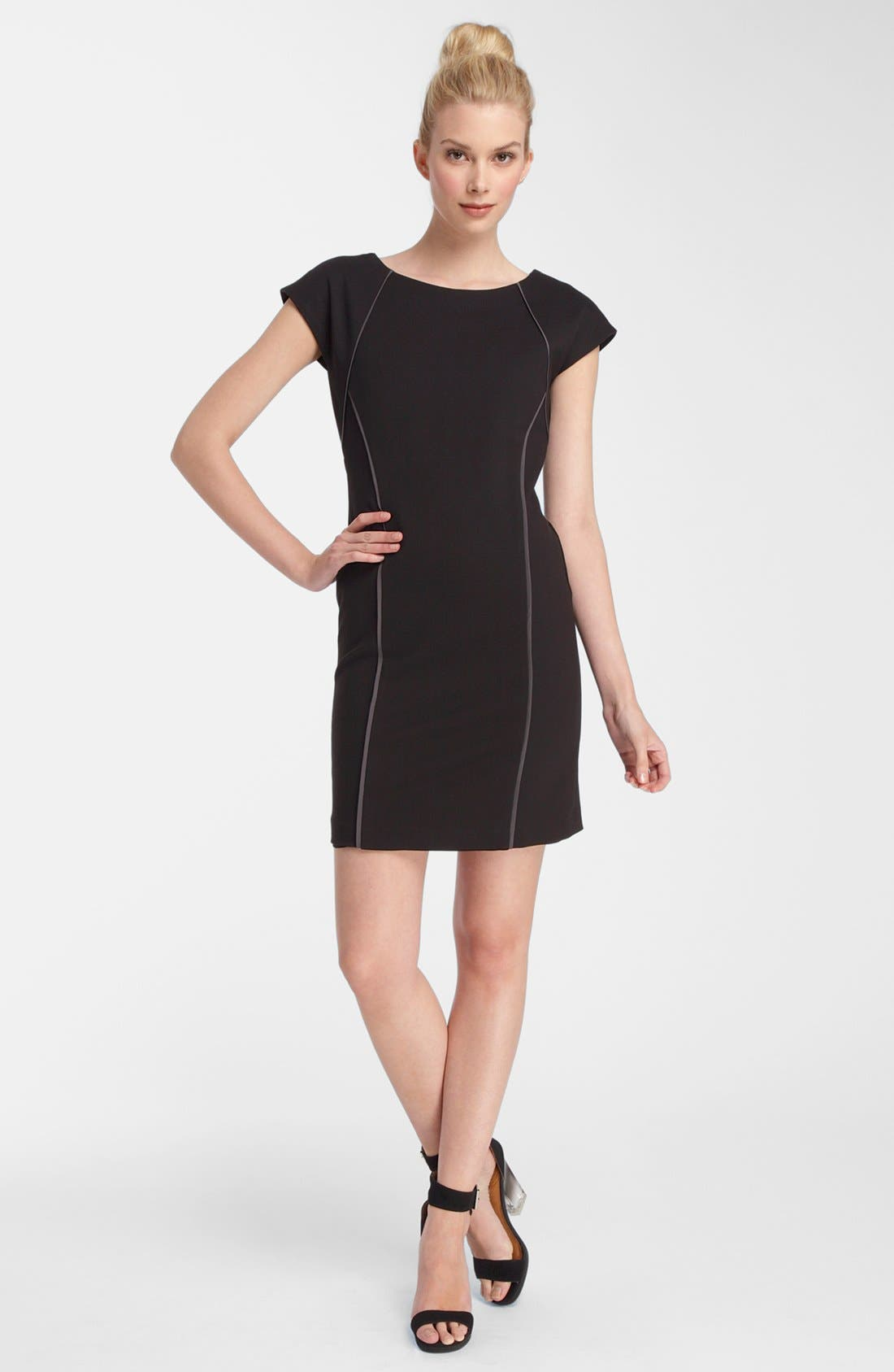 Alternate Image 1 Selected - Catherine Catherine Malandrino Piped Ponte Knit Dress