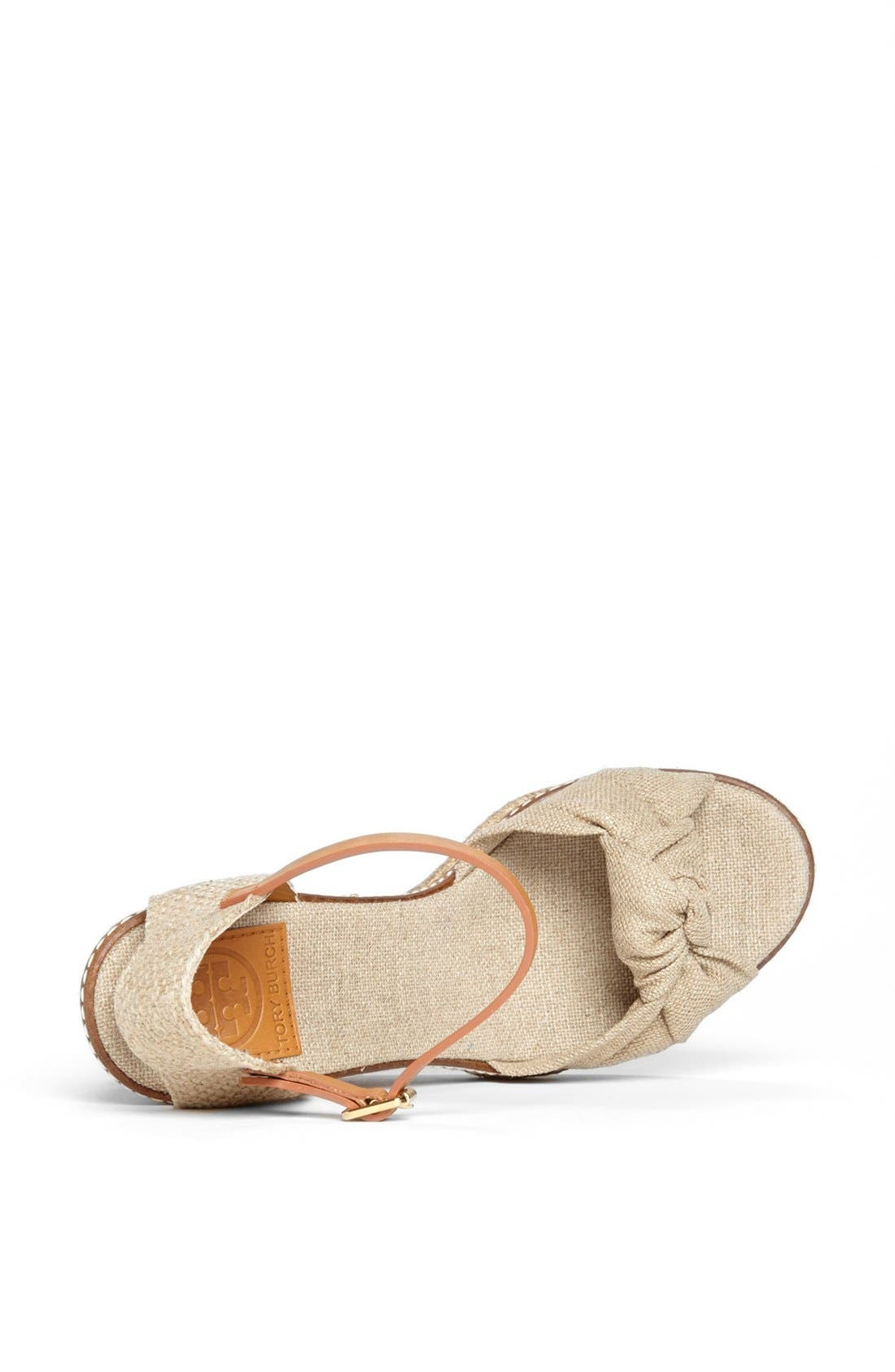 Alternate Image 3  - Tory Burch 'Macy' Leather Wedge Espadrille Sandal