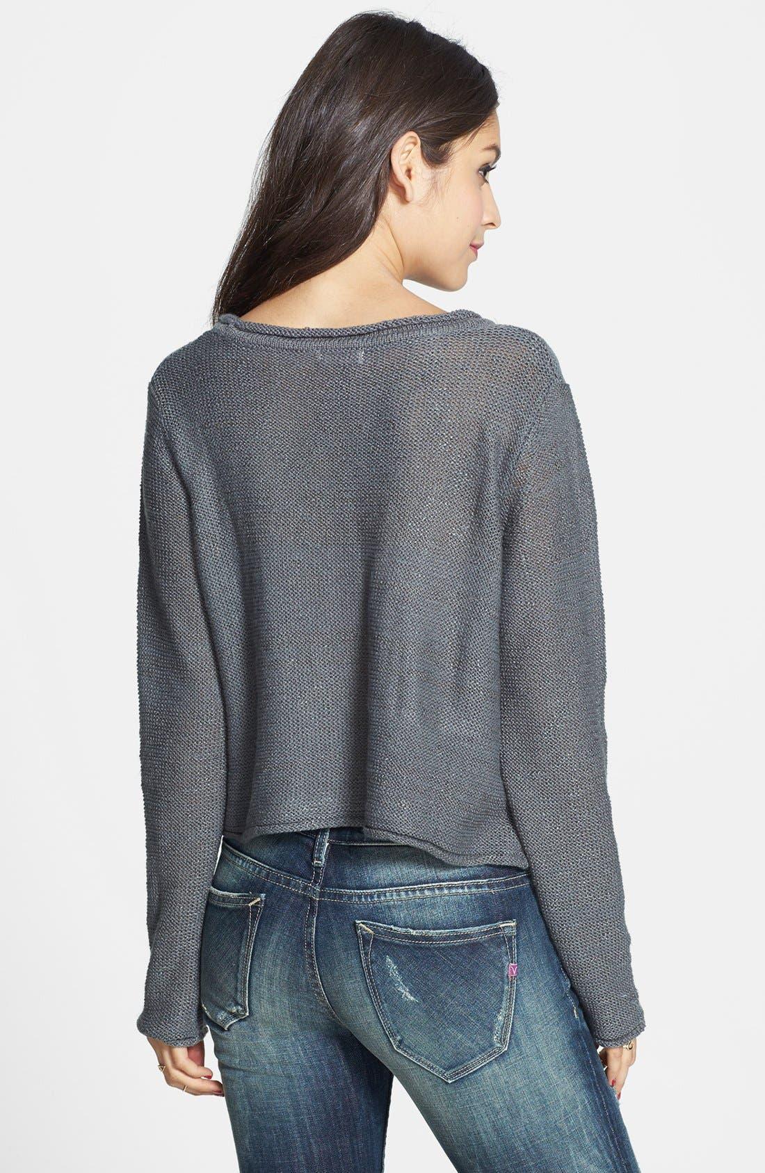 Alternate Image 2  - Love on a Hanger Pattern Crop Pullover (Juniors)