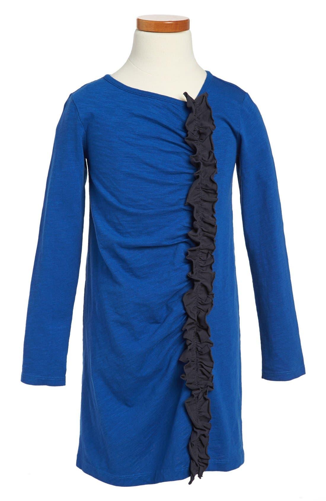 Alternate Image 1 Selected - Tea Collection Ruffled Shift Dress (Little Girls & Big Girls)