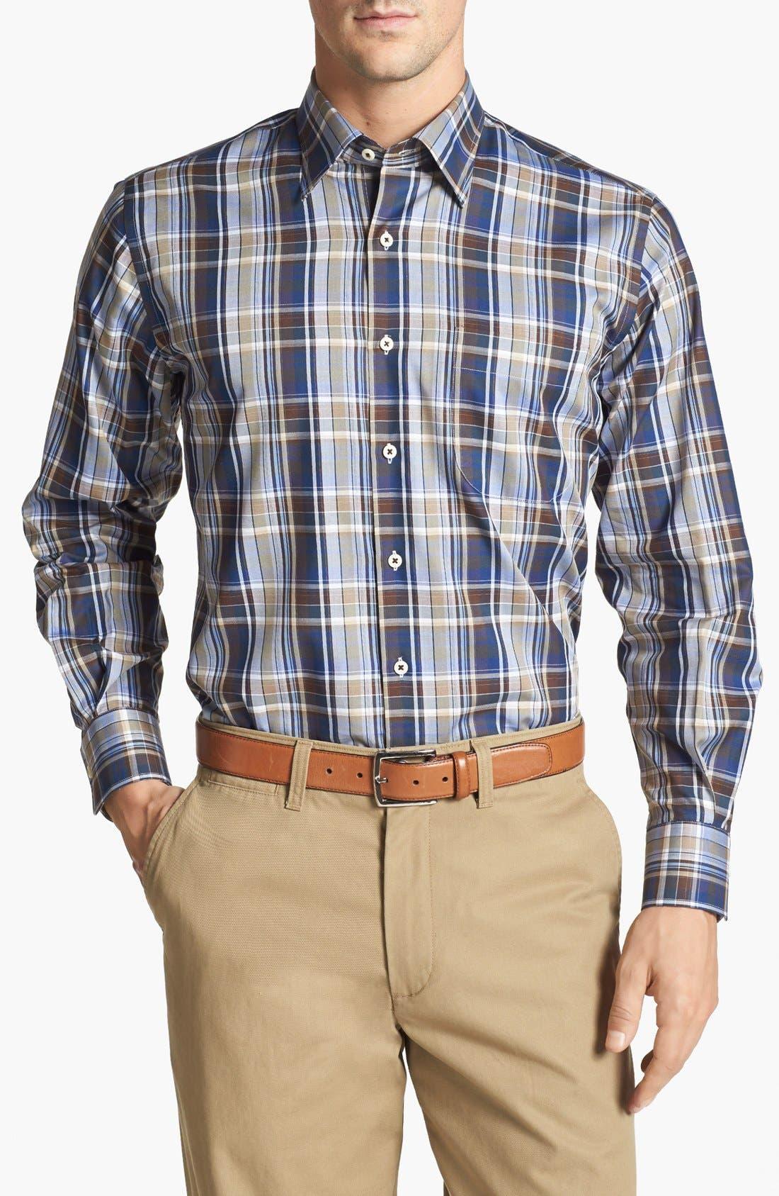 Alternate Image 1 Selected - Peter Millar Plaid Sport Shirt (Tall)