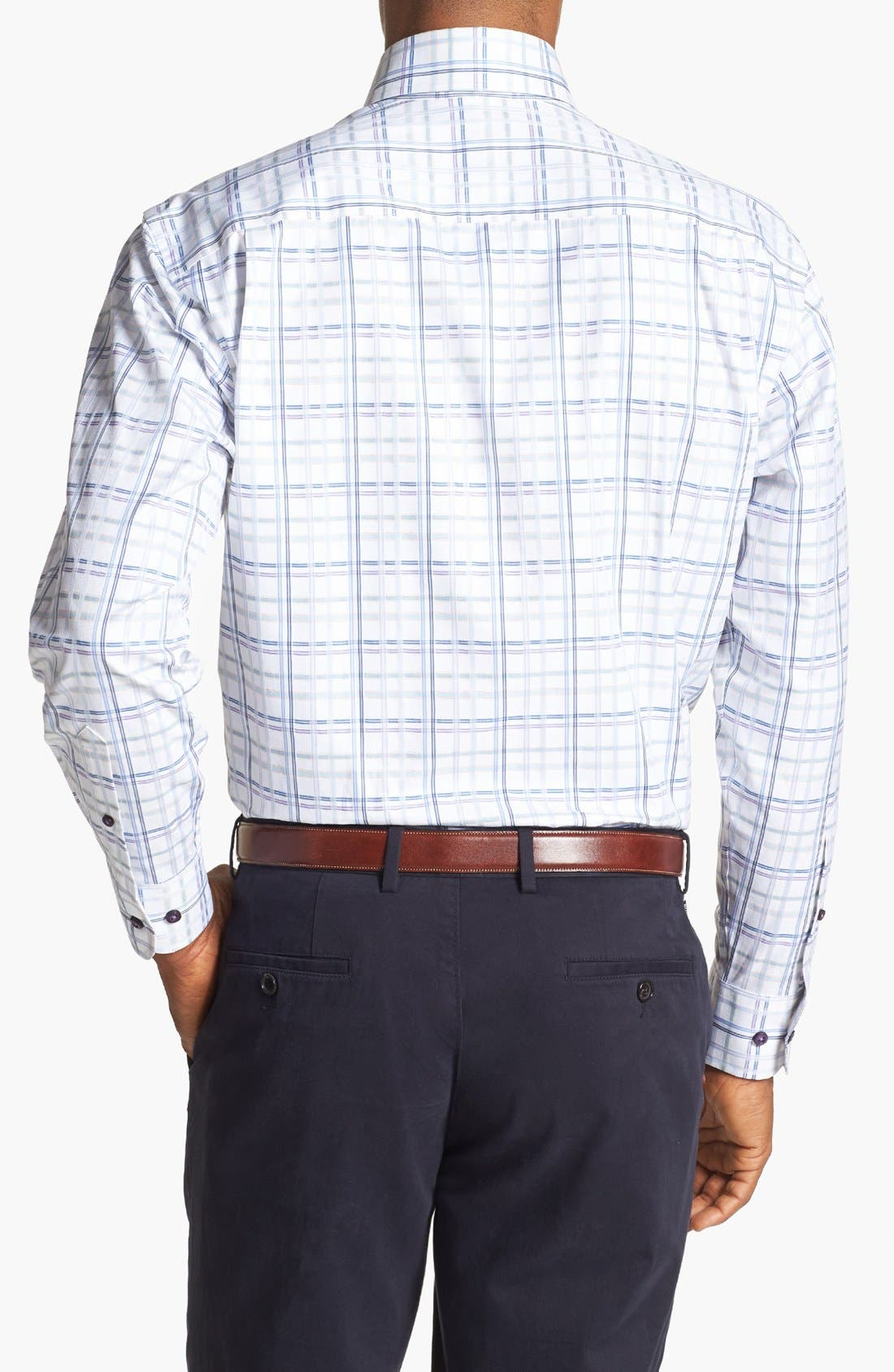Alternate Image 2  - Robert Talbott Windowpane Plaid Woven Sport Shirt