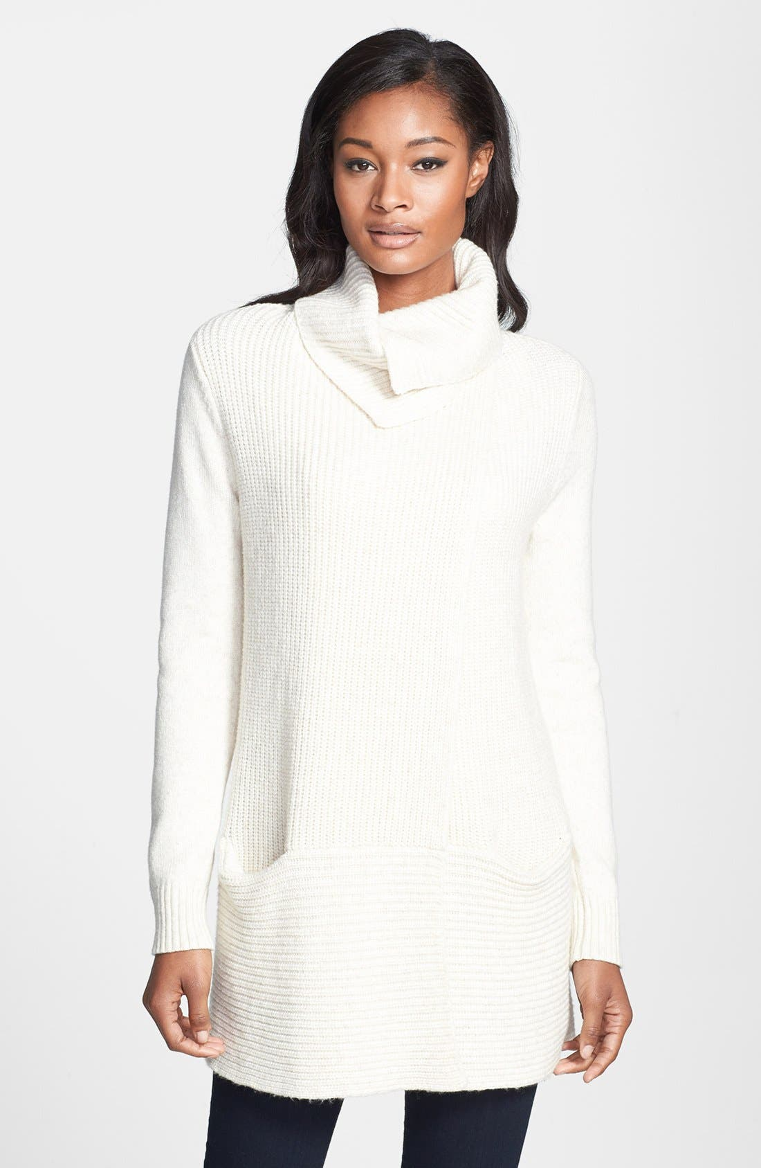 Alternate Image 1  - White + Warren Shaker Sweater Jacket