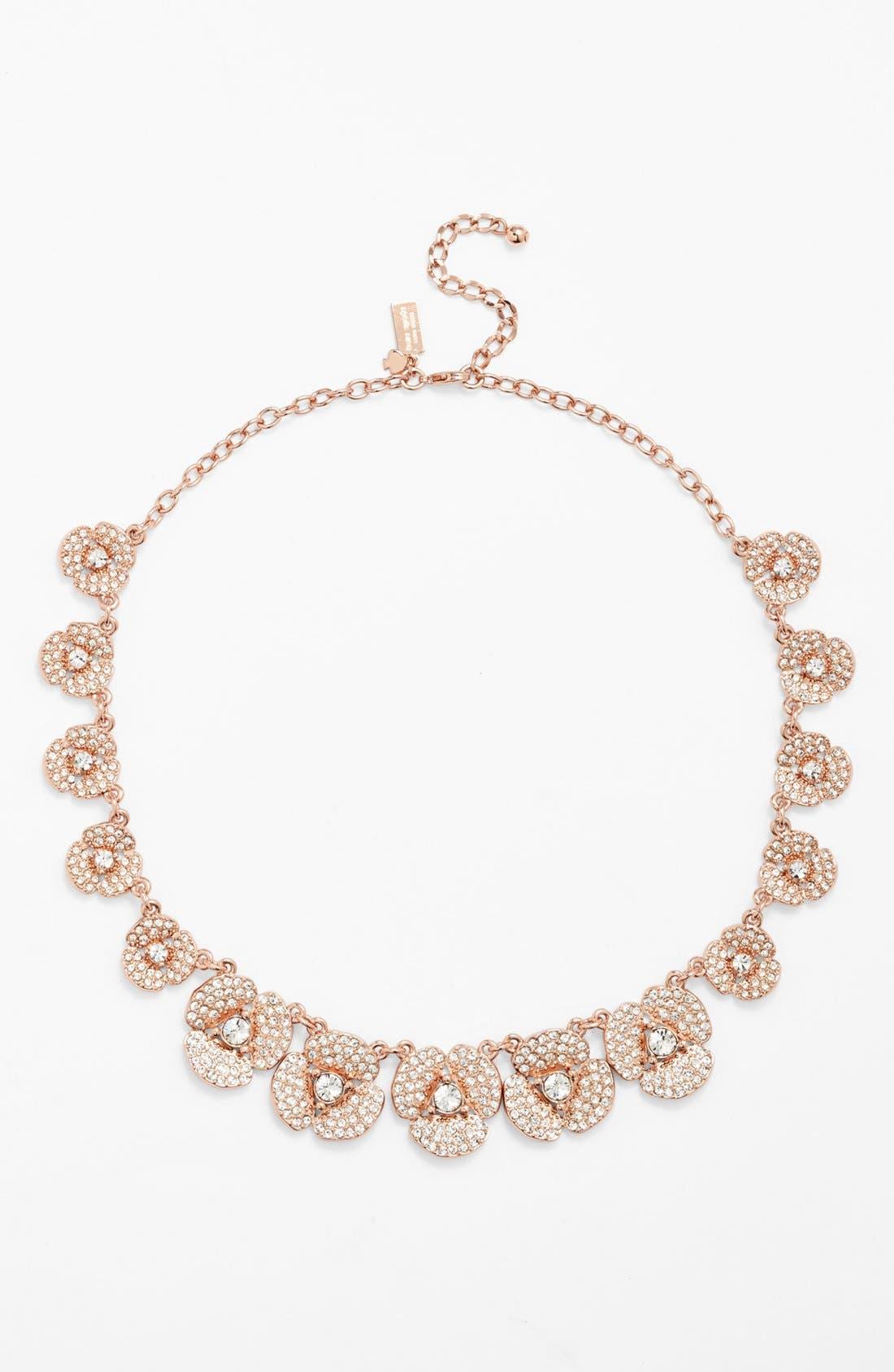 Alternate Image 2  - kate spade new york 'disco pansy' pavé flower collar necklace