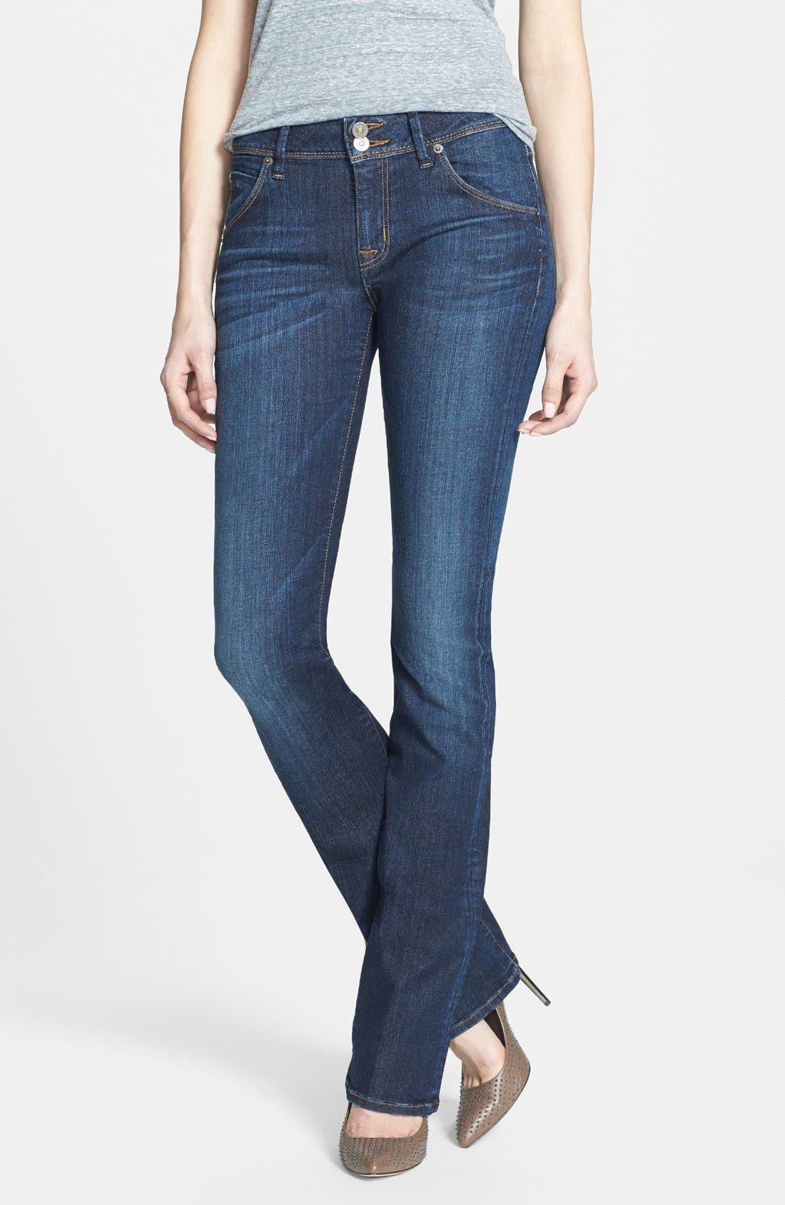 Alternate Image 1 Selected - Hudson Jeans 'Beth' Mid Rise Baby Bootcut Jeans (Nightfall)