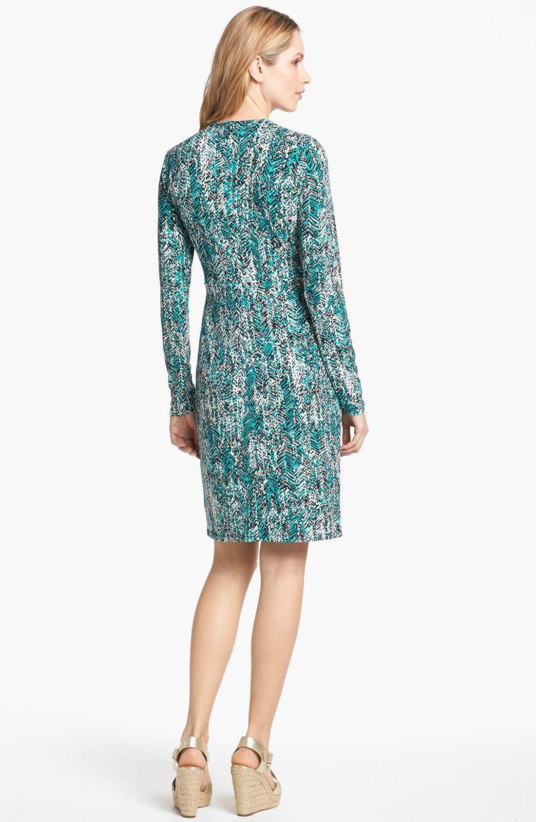 Alternate Image 2  - MICHAEL Michael Kors Print Faux Wrap Dress (Petite)