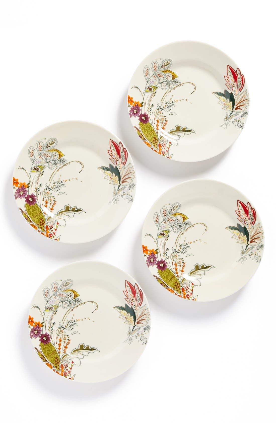 Main Image - 'Floral Henna' Porcelain Salad Plates (Set of 4)