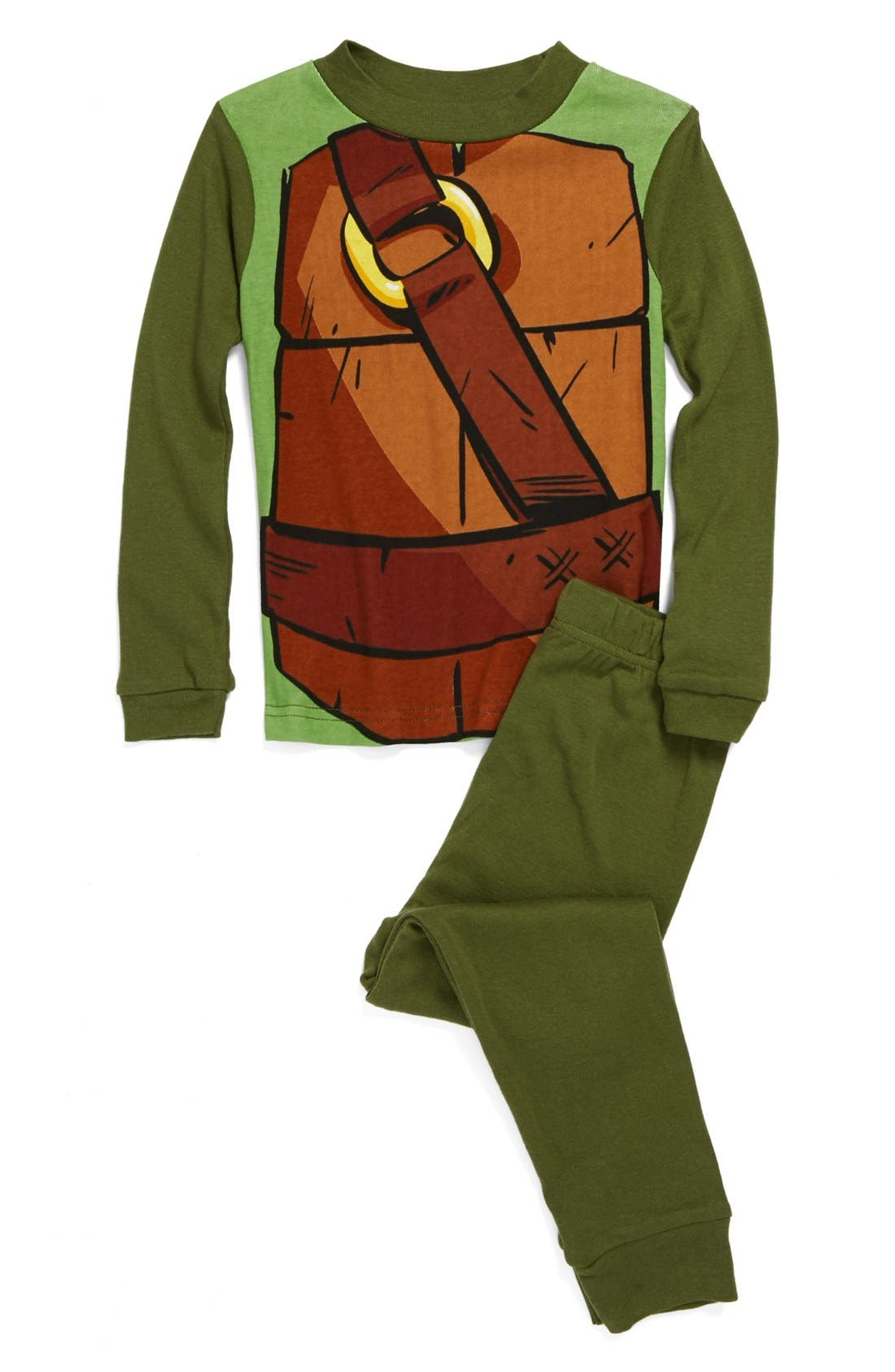 Alternate Image 1 Selected - Nickelodeon 'Turtle' Fitted Two-Piece Pajamas (Little Boys & Big Boys)