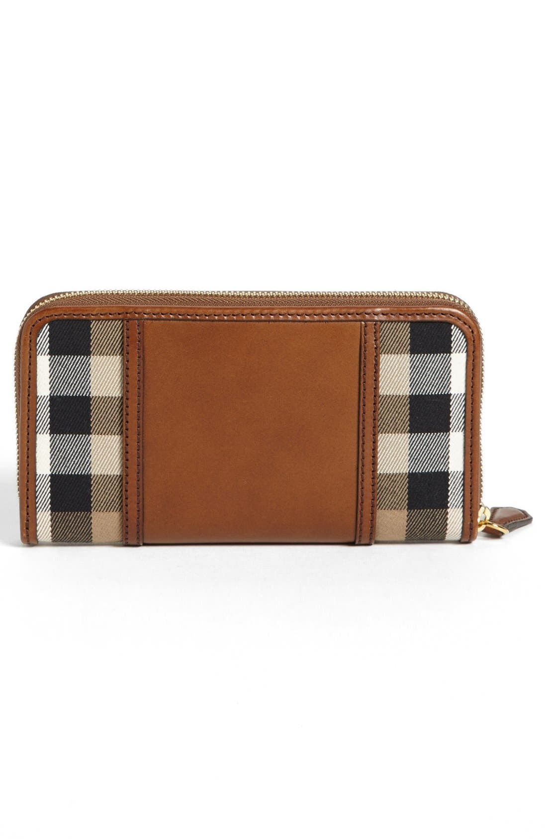 Alternate Image 4  - Burberry 'House Check - Large' Zip Around Wallet