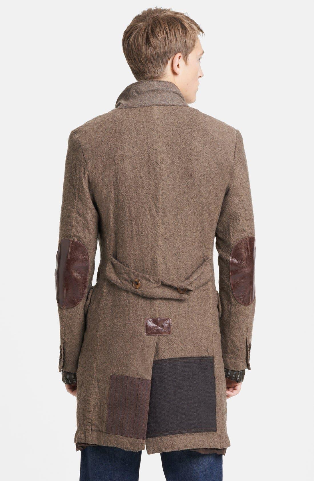 Alternate Image 2  - Junya Watanabe Patchwork Wool Overcoat