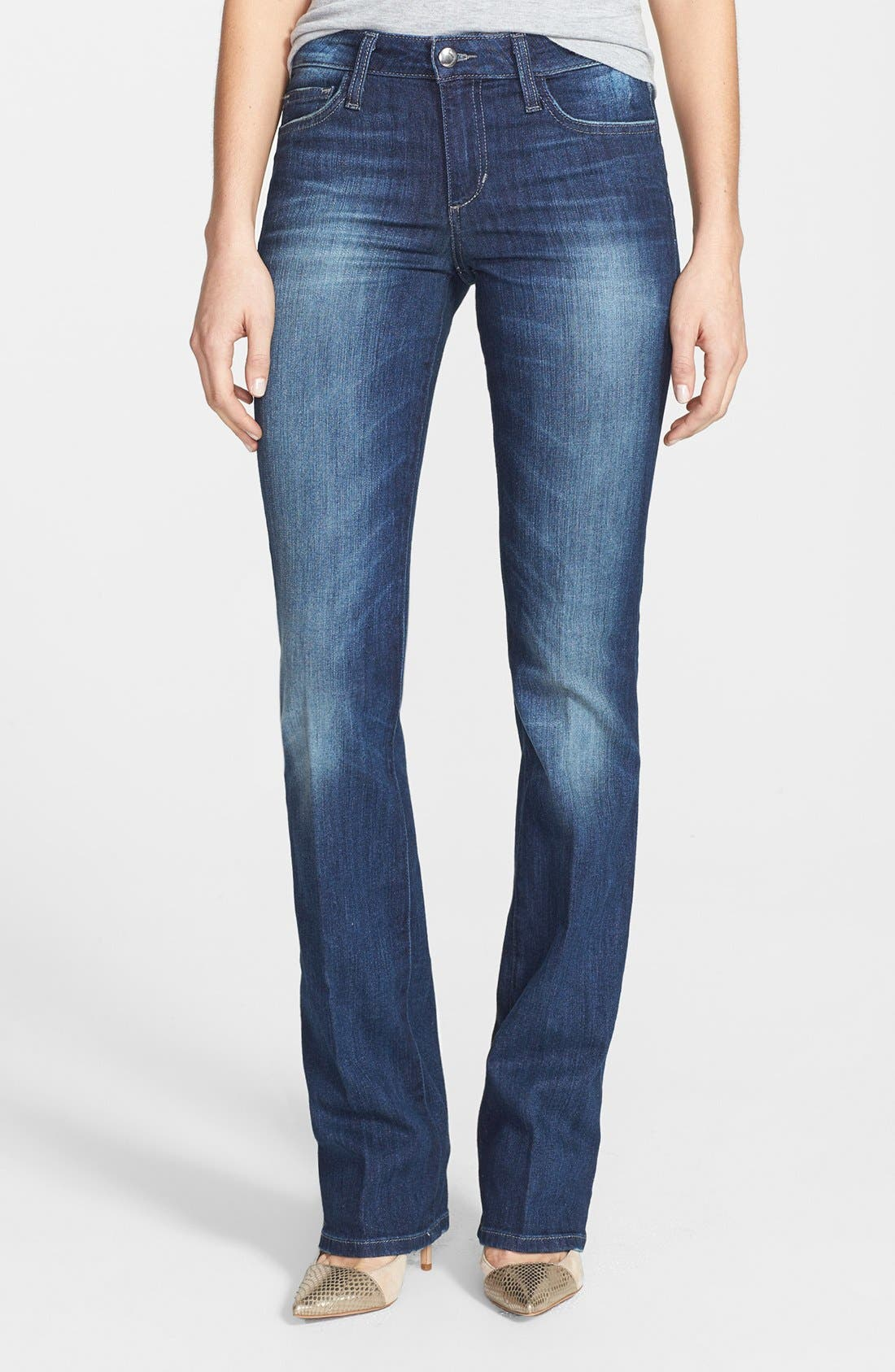 Alternate Image 1 Selected - Joe's Curvy Mini Bootcut Jeans (April)