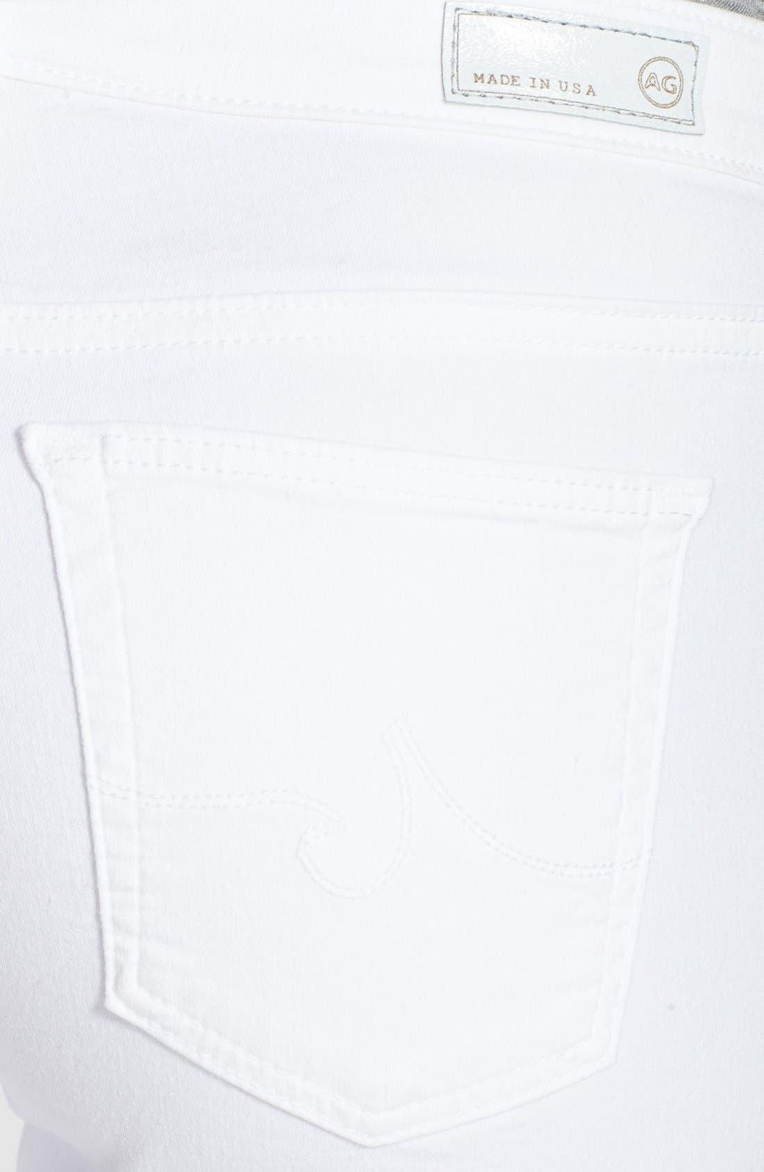Alternate Image 3  - AG 'The Legging' Ankle Skinny Jeans (White White)