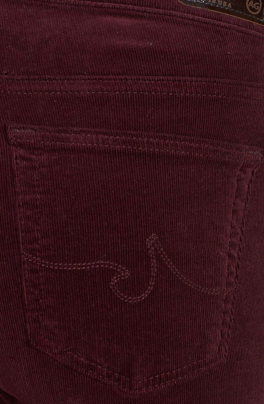 Alternate Image 3  - AG Jeans 'Stilt' Skinny Stretch Velvet Pants
