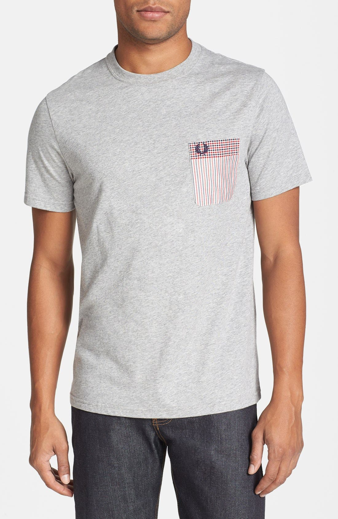 Main Image - Fred Perry Pattern Pocket Slim Fit T-Shirt