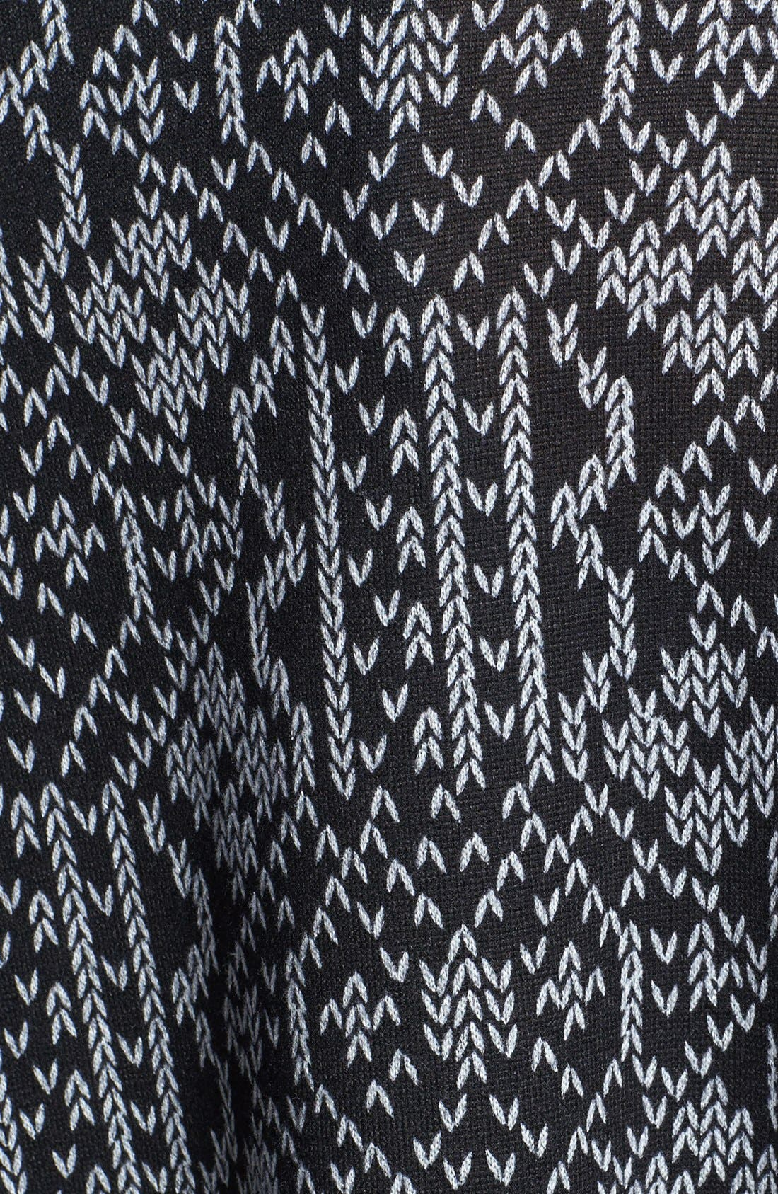 Alternate Image 3  - Bobeau Print Asymmetrical Wrap Cardigan