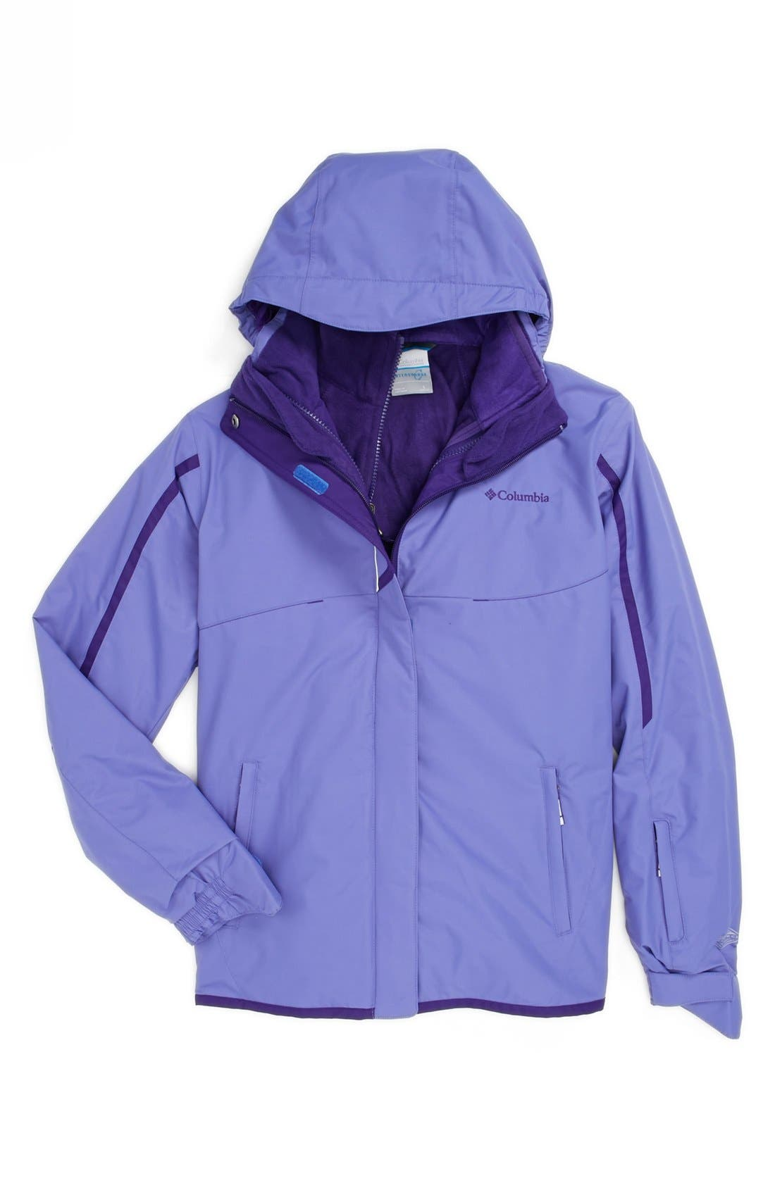 Alternate Image 1 Selected - Columbia 'Bugaboo Interchange' Waterproof 3-in-1 Jacket (Big Girls)